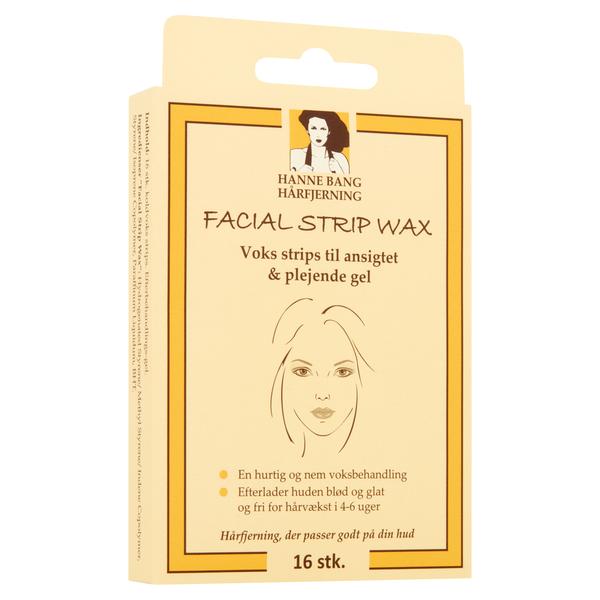 Hanne Bang Facial Strip Wax, 16 strips