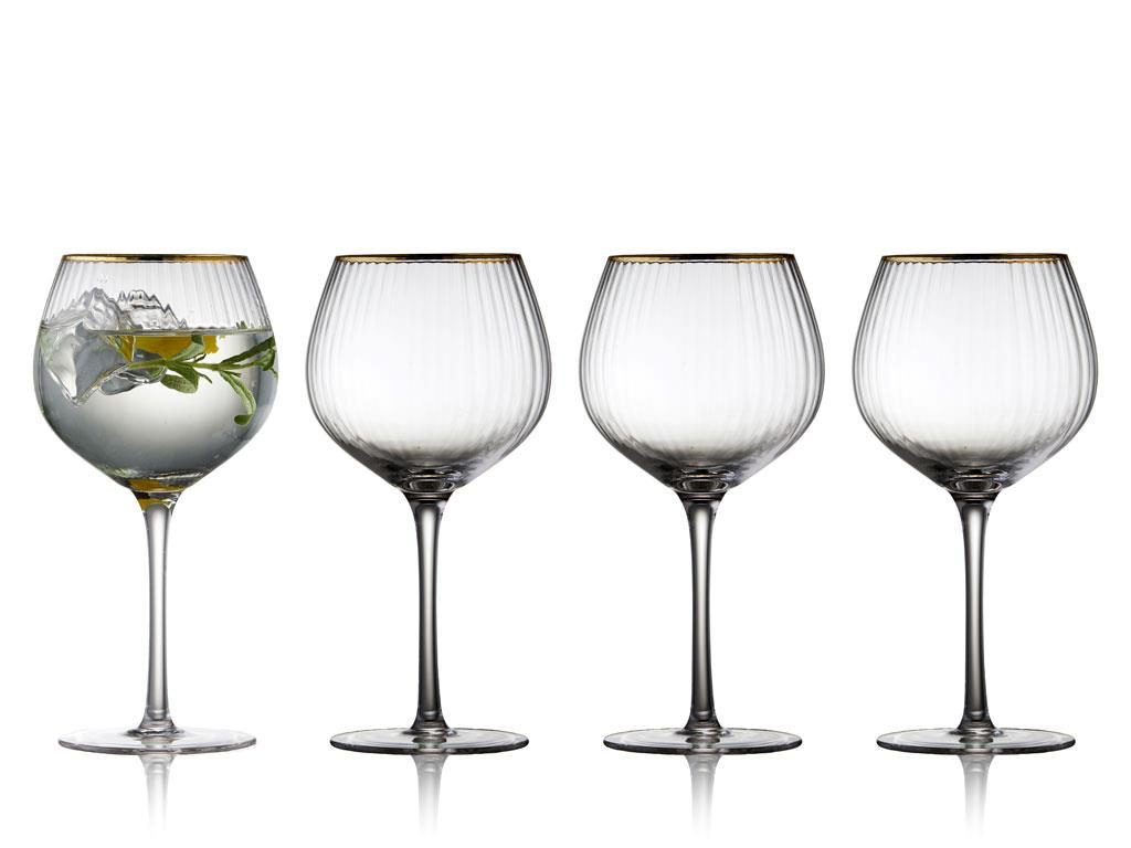 Lyngby Glas Palermo Gold G&T glas, 650 ml, 4 stk