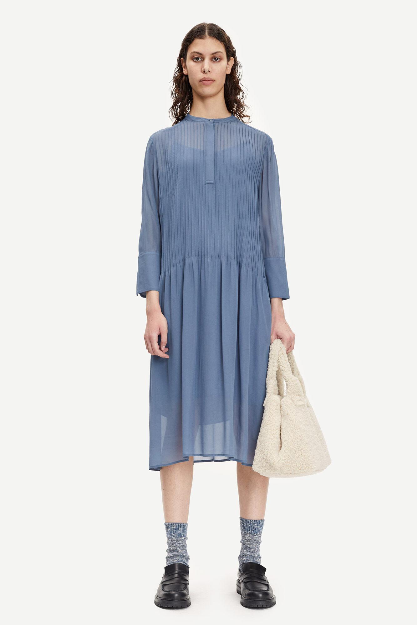 Samsøe Samsøe Elm Skjortekjole, China Blue, L