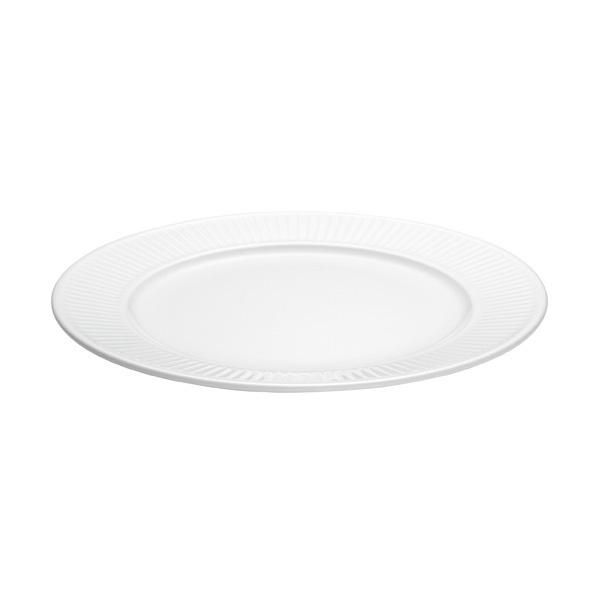 Pillivuyt Plisse frokosttallerken, Ø22 cm, hvid