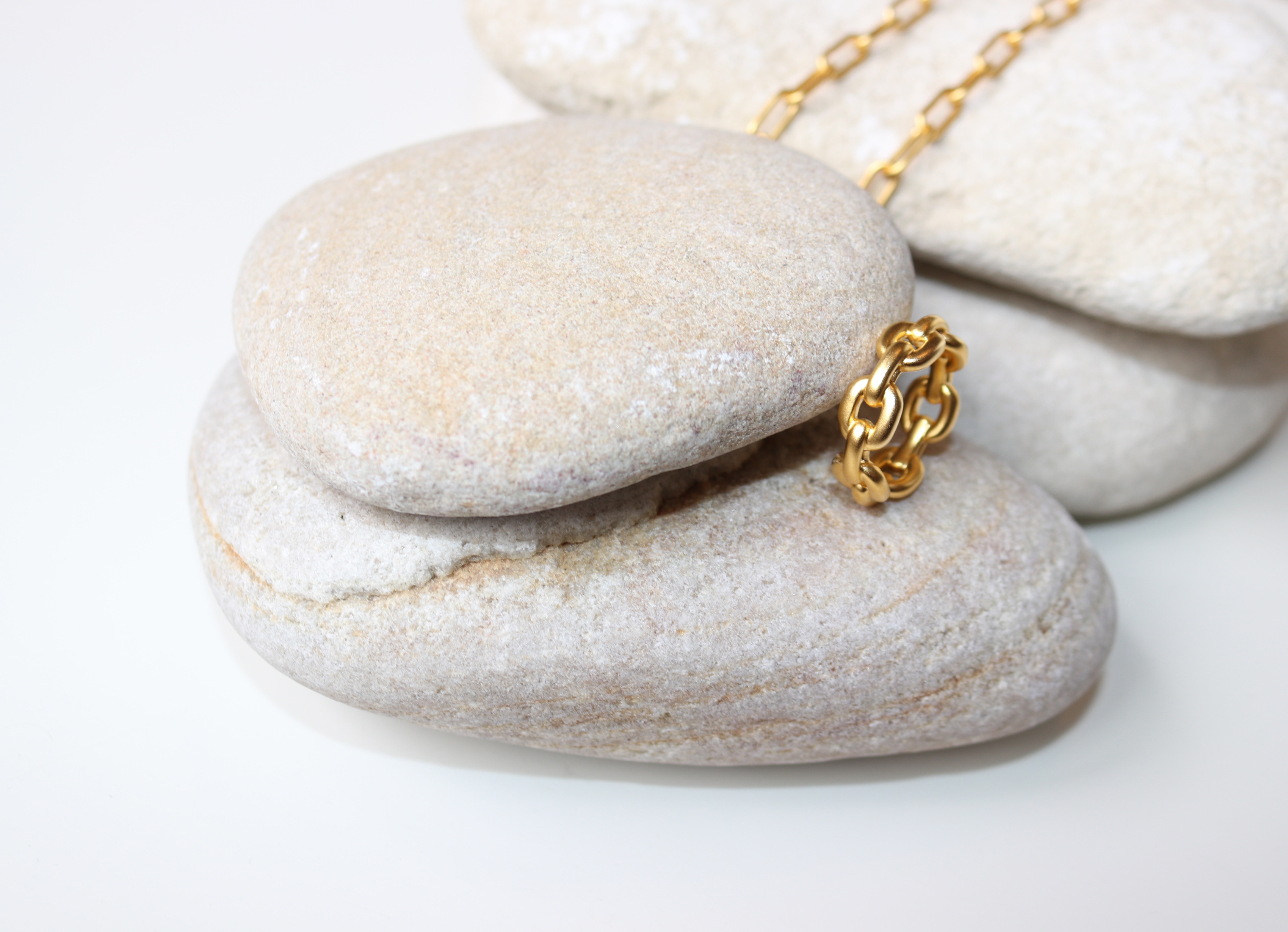 Julie Sandlau Link Chain ring, guld, 56