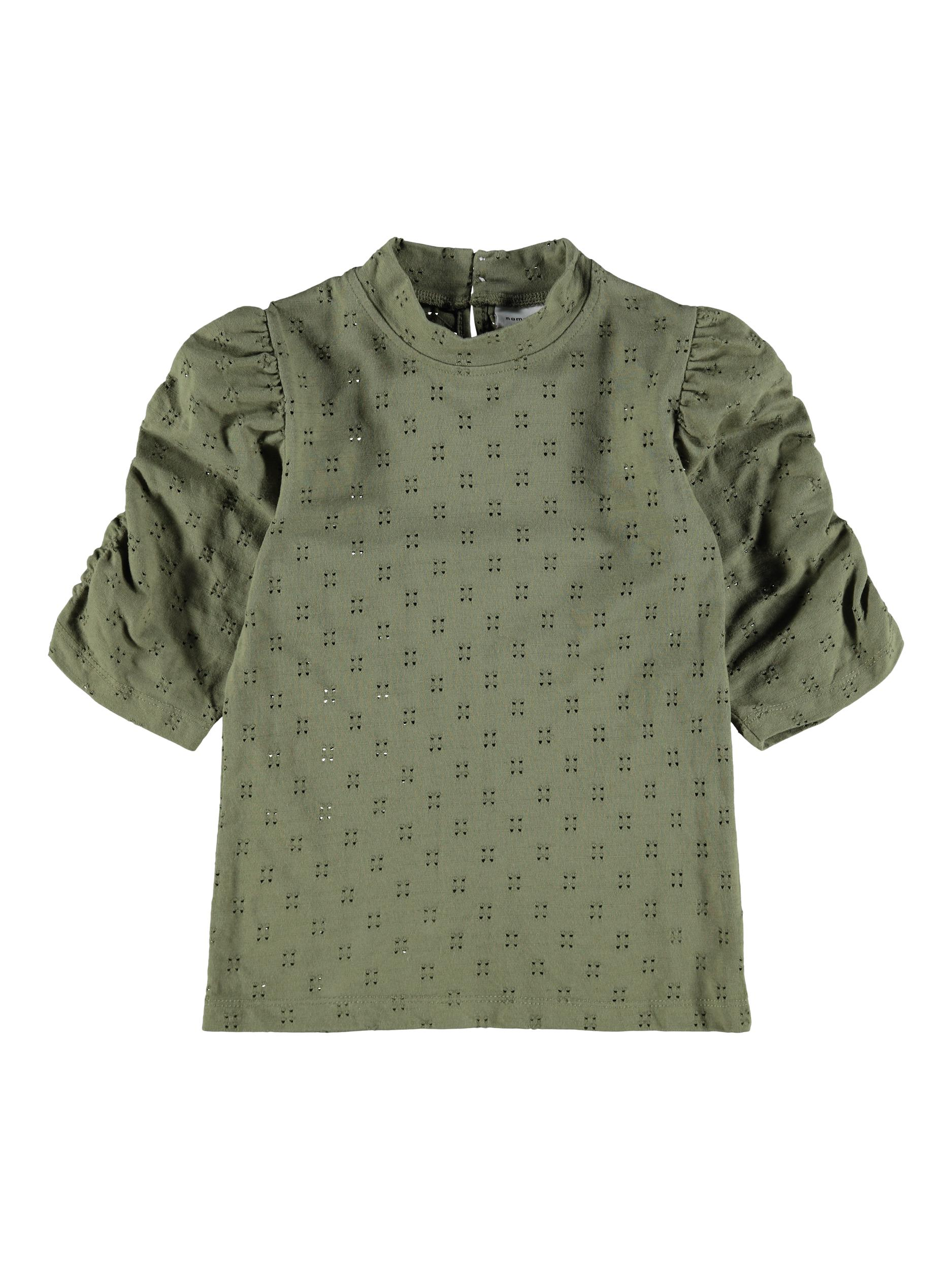 Name It Hafrun top, deep lichen green, 146-152