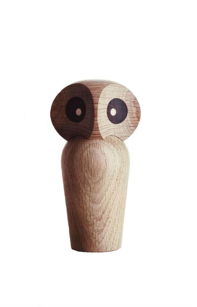 Architectmade Owl, lille, egetræ