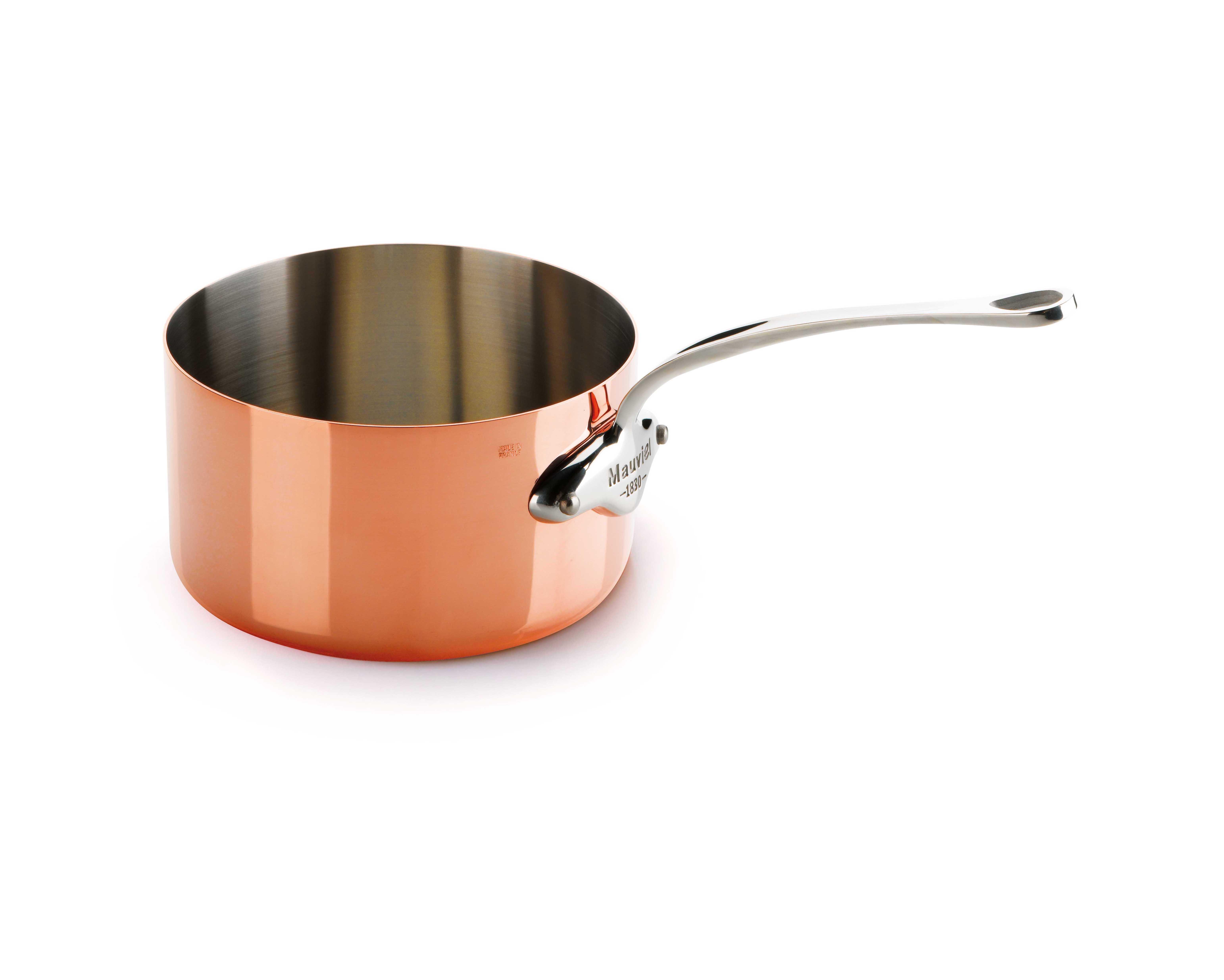 Mauviel M'150s kasserolle, 1,1 liter, kobber