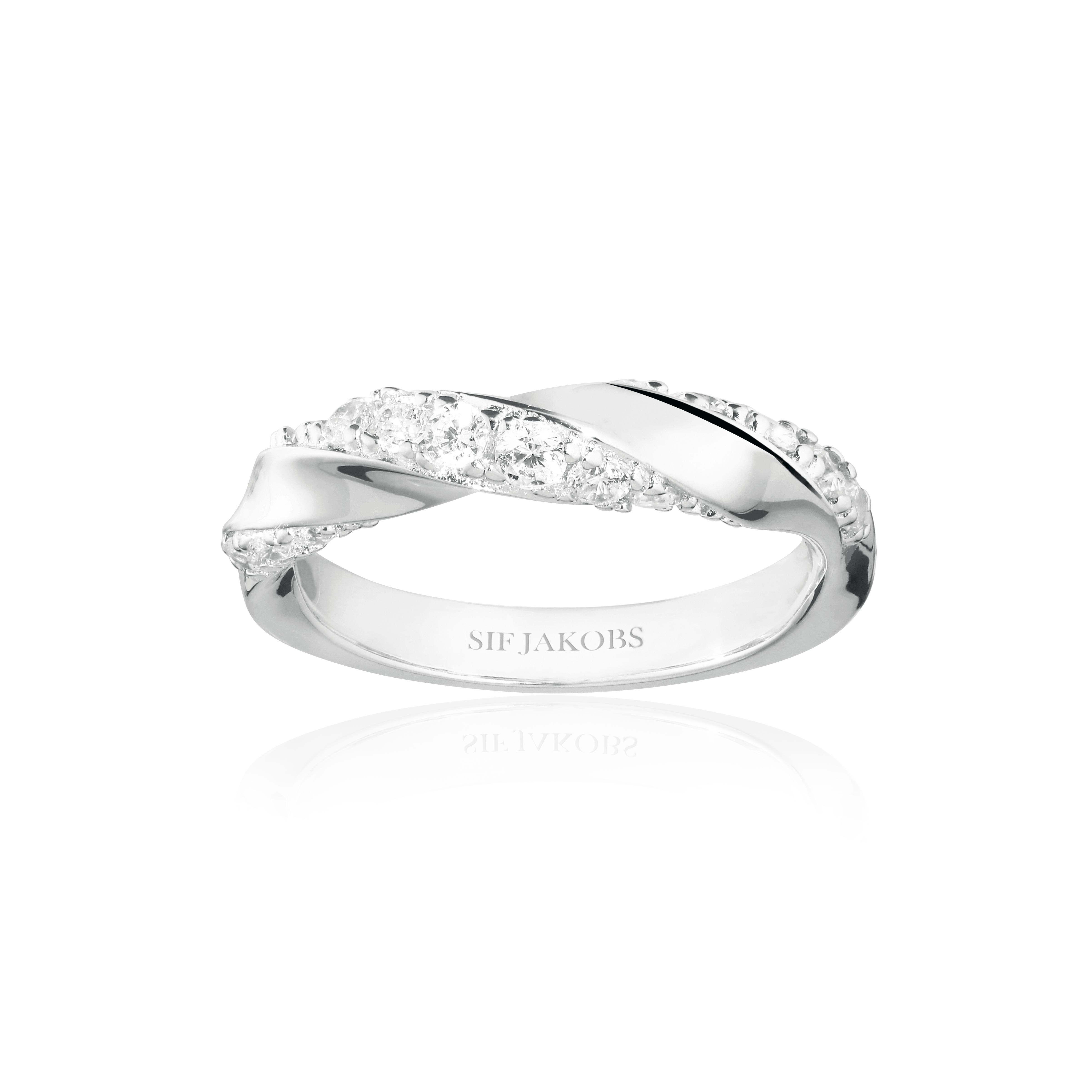 Sif Jakobs Jewellery Ferara ring, guld/hvid, 54