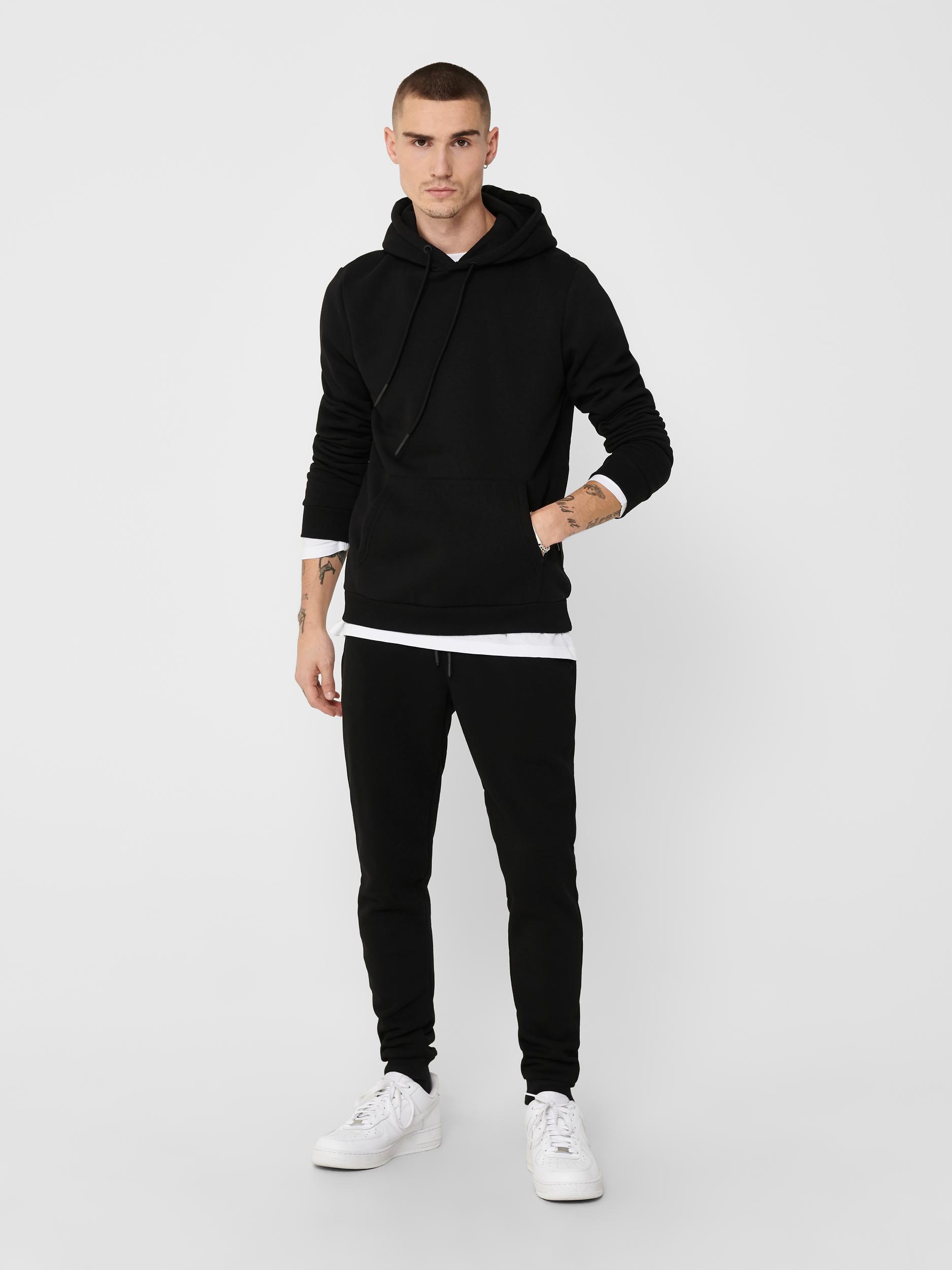 Only & Sons Ceres Life hoodie, black, medium