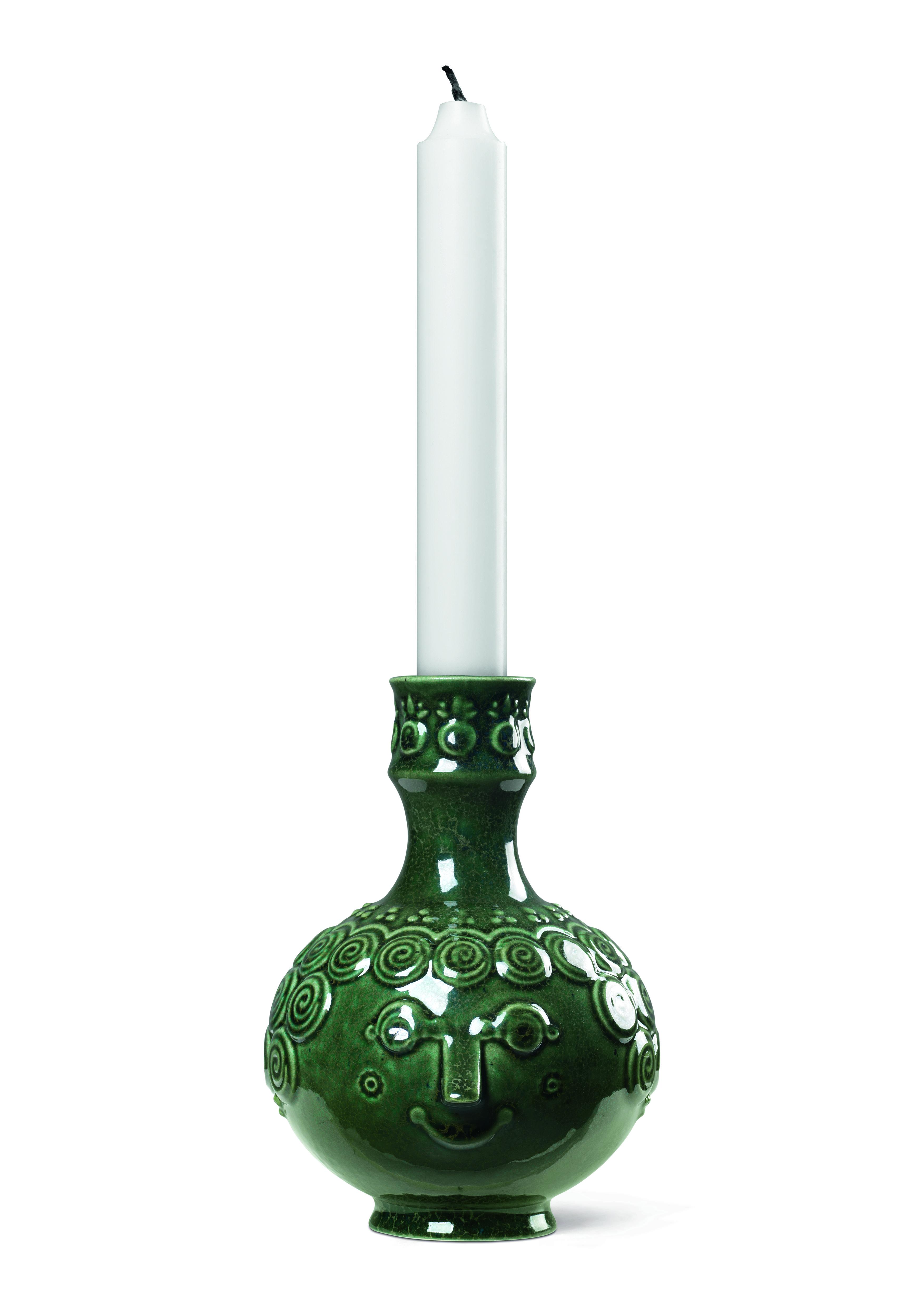 Björn Wiinblad Ophelia lysestage, 14,5 cm, mørk grøn