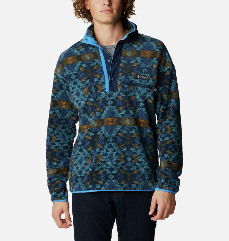 Columbia Helvetia™ Half Snap Fleece Jakke, Canyon Blue, L