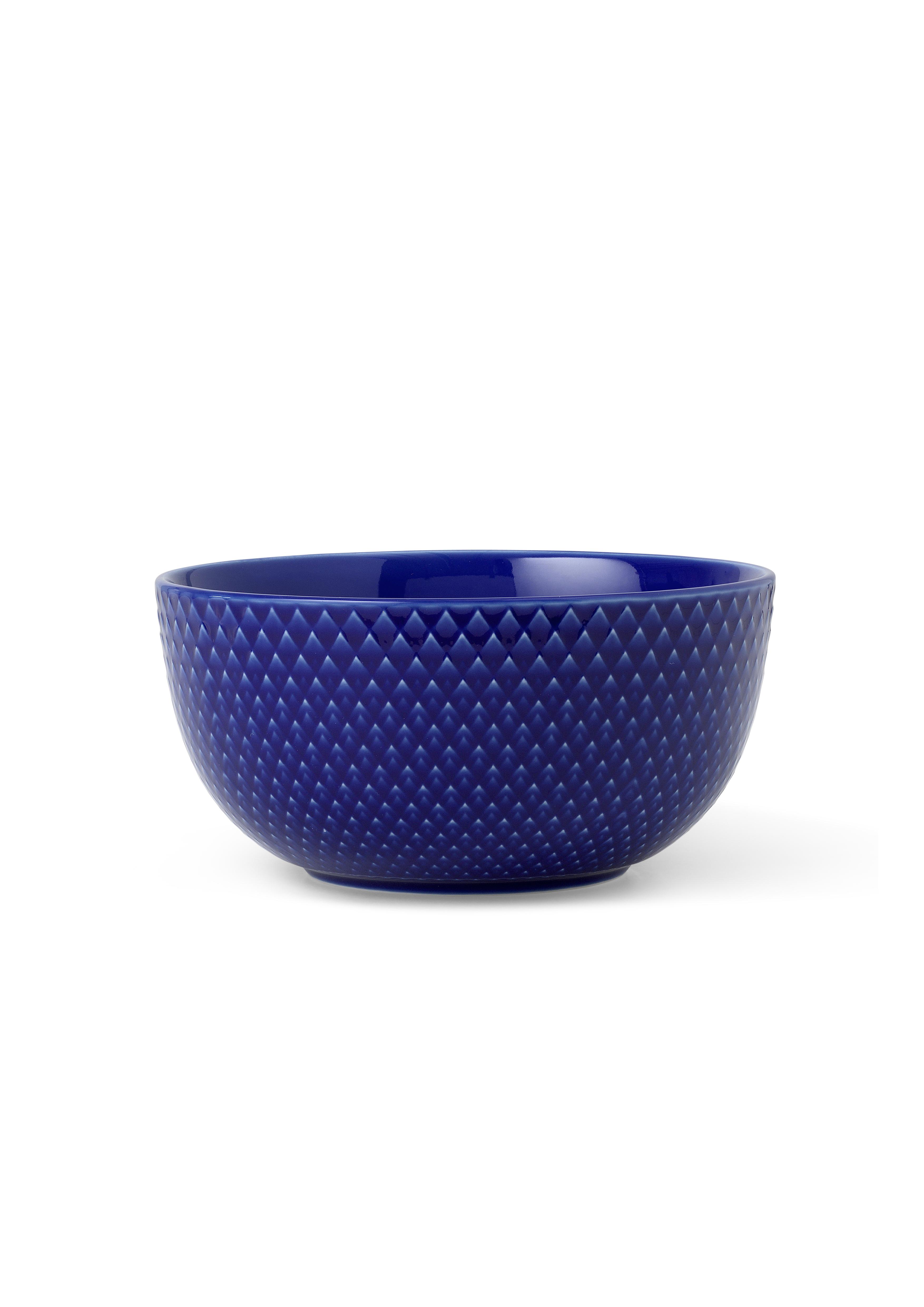 Lyngby Porcelæn Rhombe Color skål, Ø13 cm, mørkeblå
