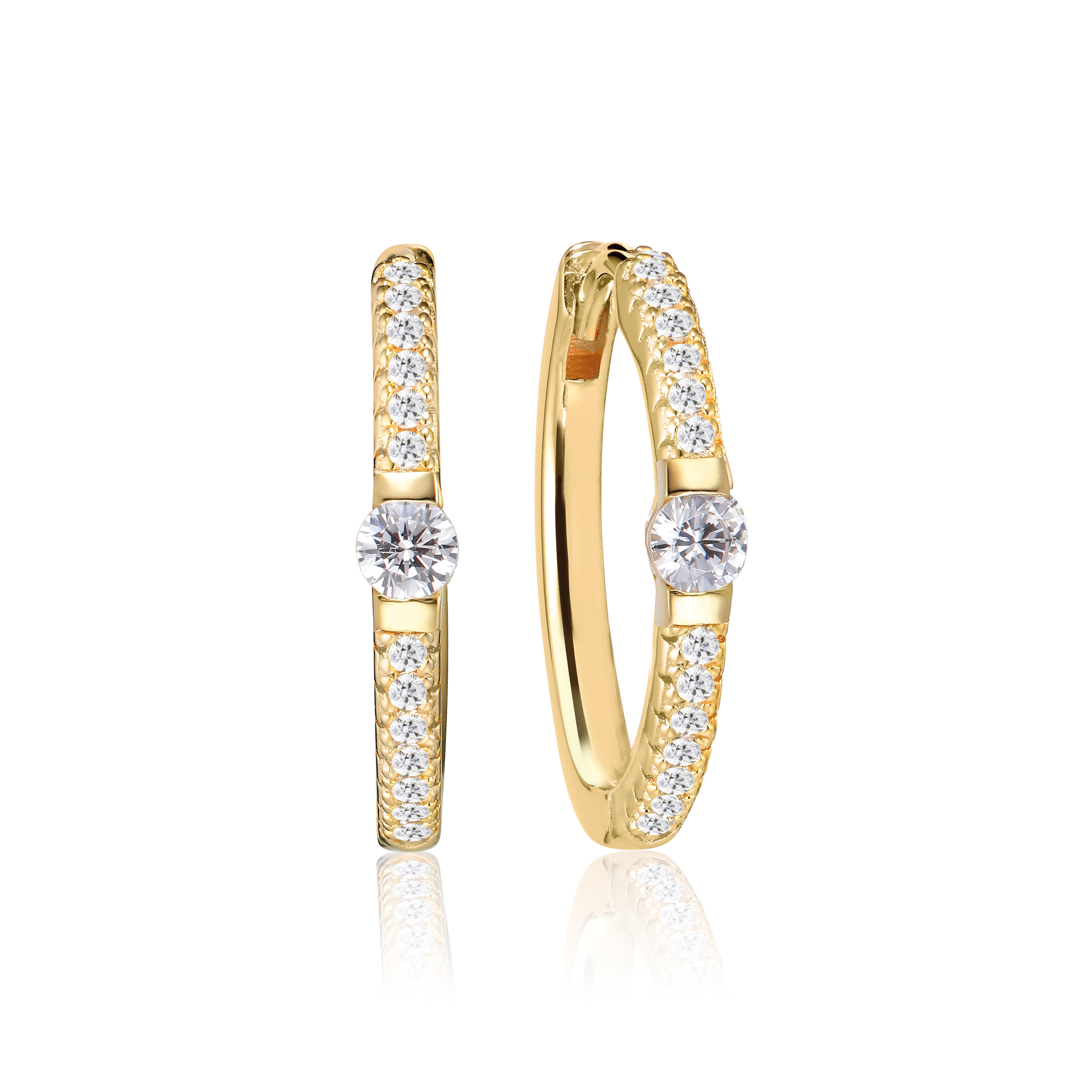 Sif Jakobs Jewellery Ellera Uno Grande øreringe, guld/hvid