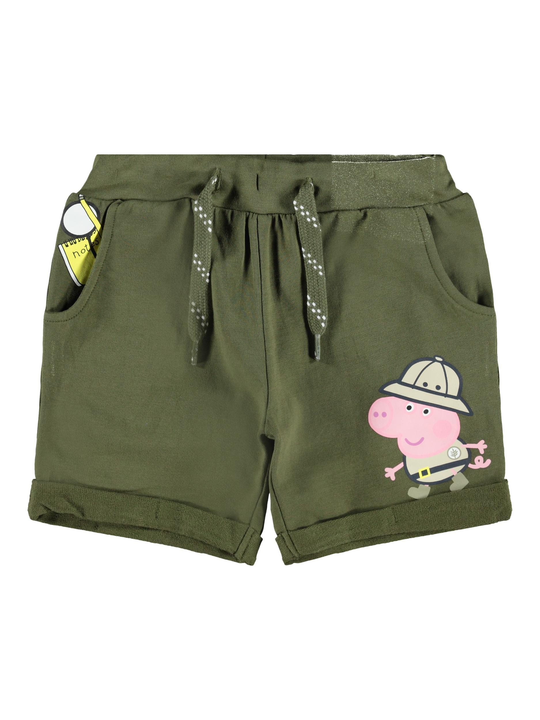 Name It Gurli Gris Bertel sweat shorts, ivy green, 98