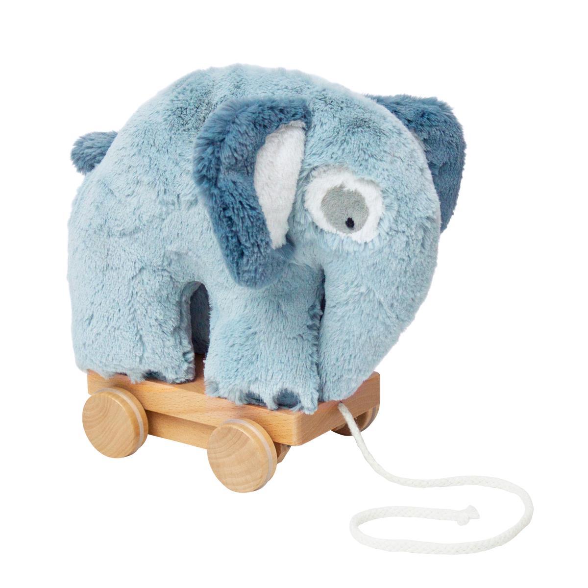 Sebra plys trækdyr, elefant, blå