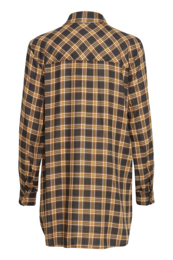 Fransa 20609653 skjorte, green ink mix, x-large