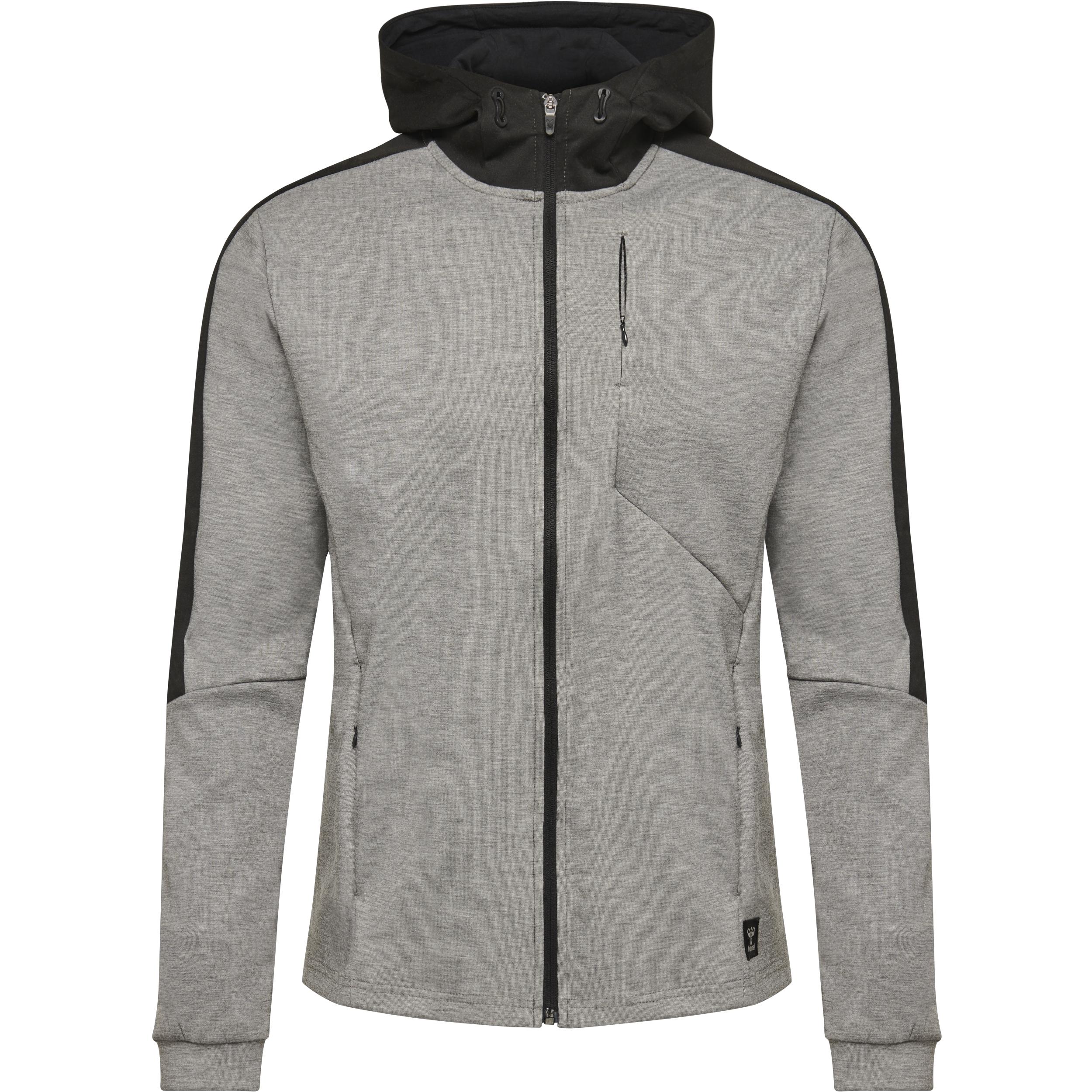 Hummel Tropper Zip hoodie, grey melange, large