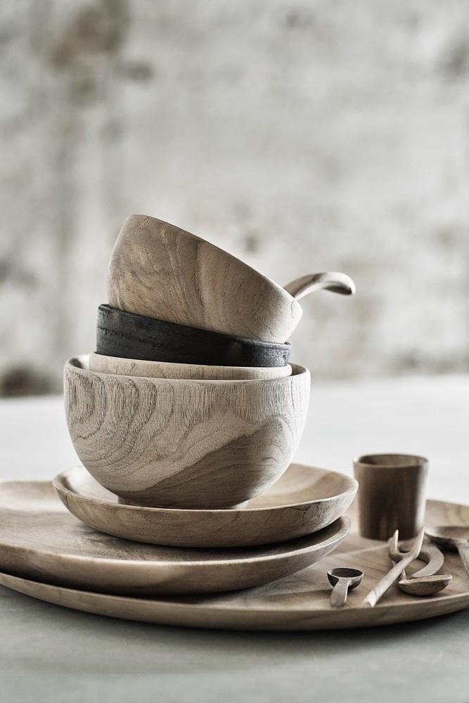 Muubs skål, Ø12 cm, teaktræ