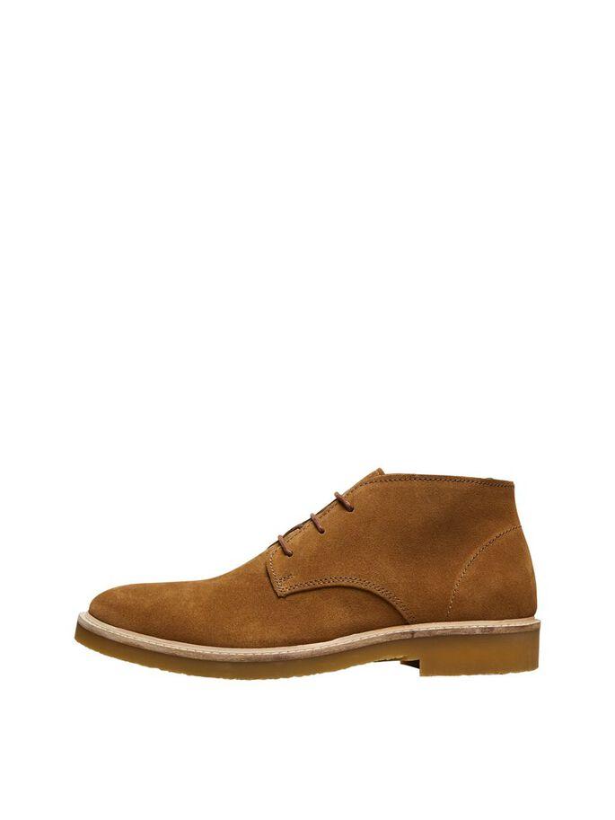 Selected 16075853 støvler, tobacco brown, 44