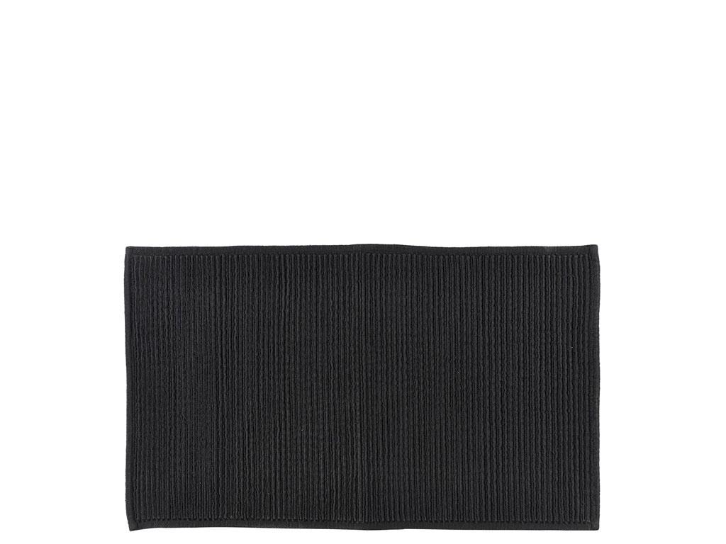 Södahl Plissé bademåtte, 50x80 cm, black