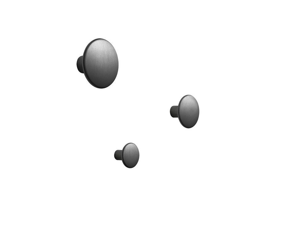 Muuto The Dots knage, small, black metal