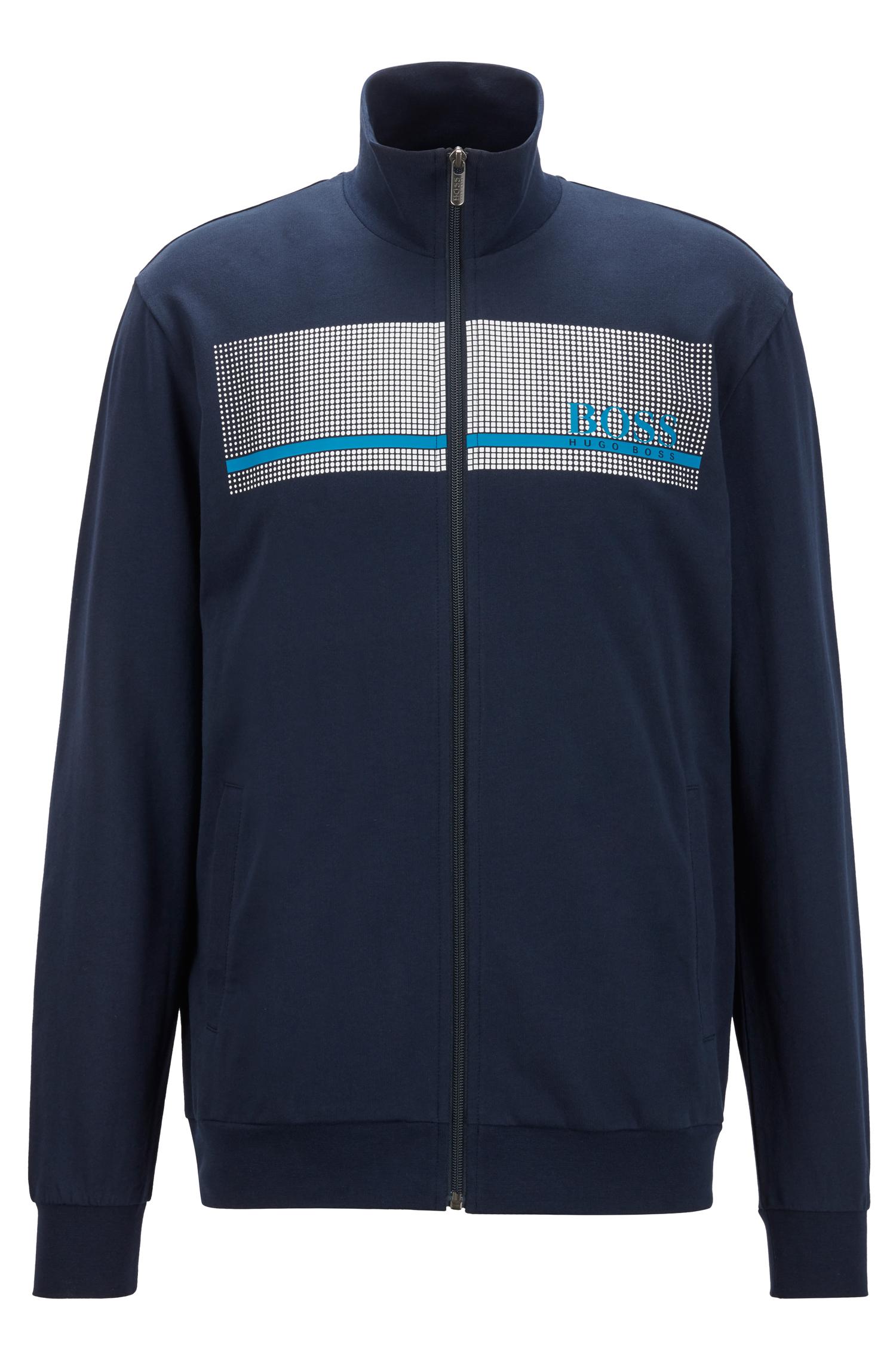 Hugo Boss loungwear jakke med hætte