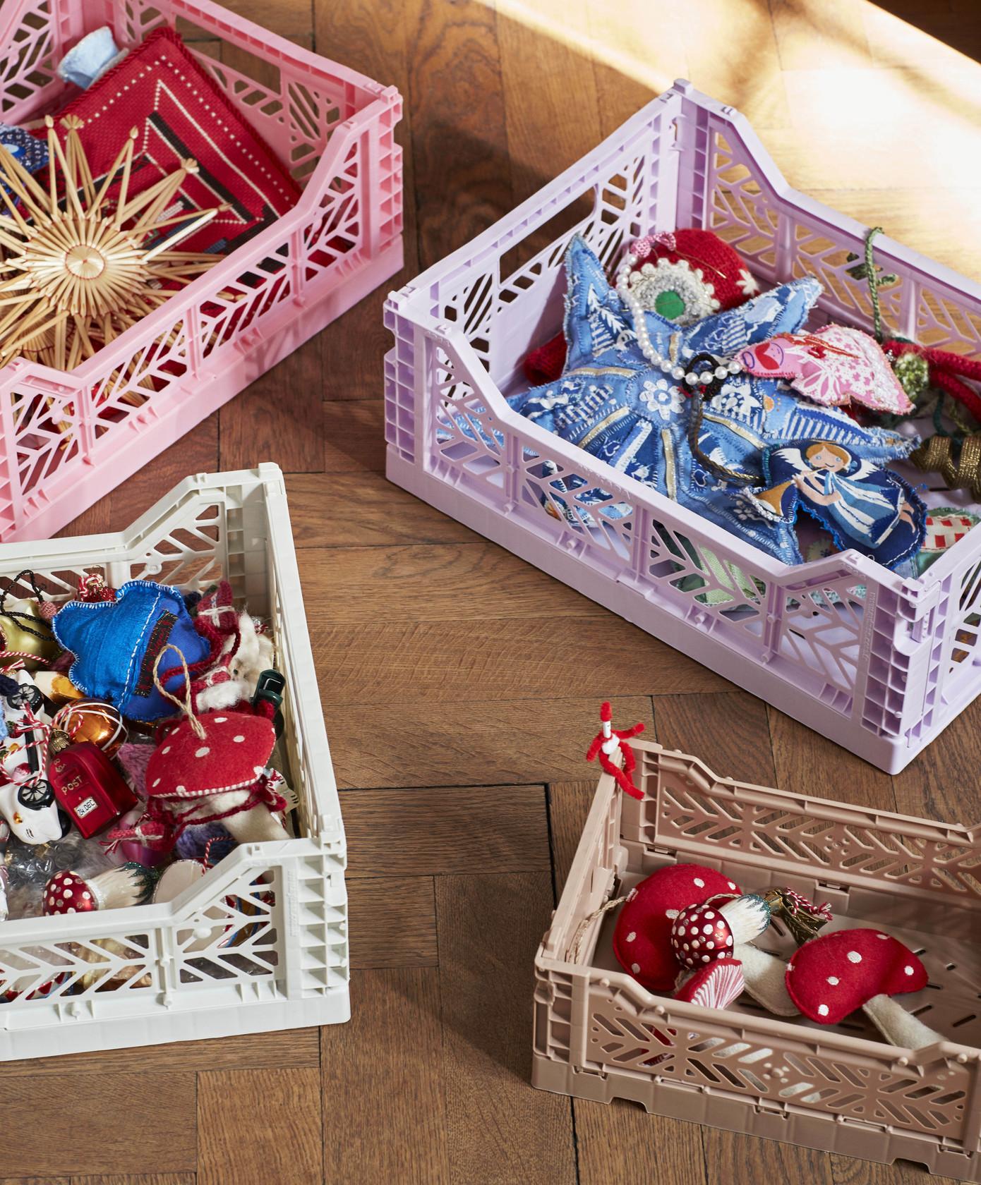 HAY Colour Crate kasse, medium, light grey
