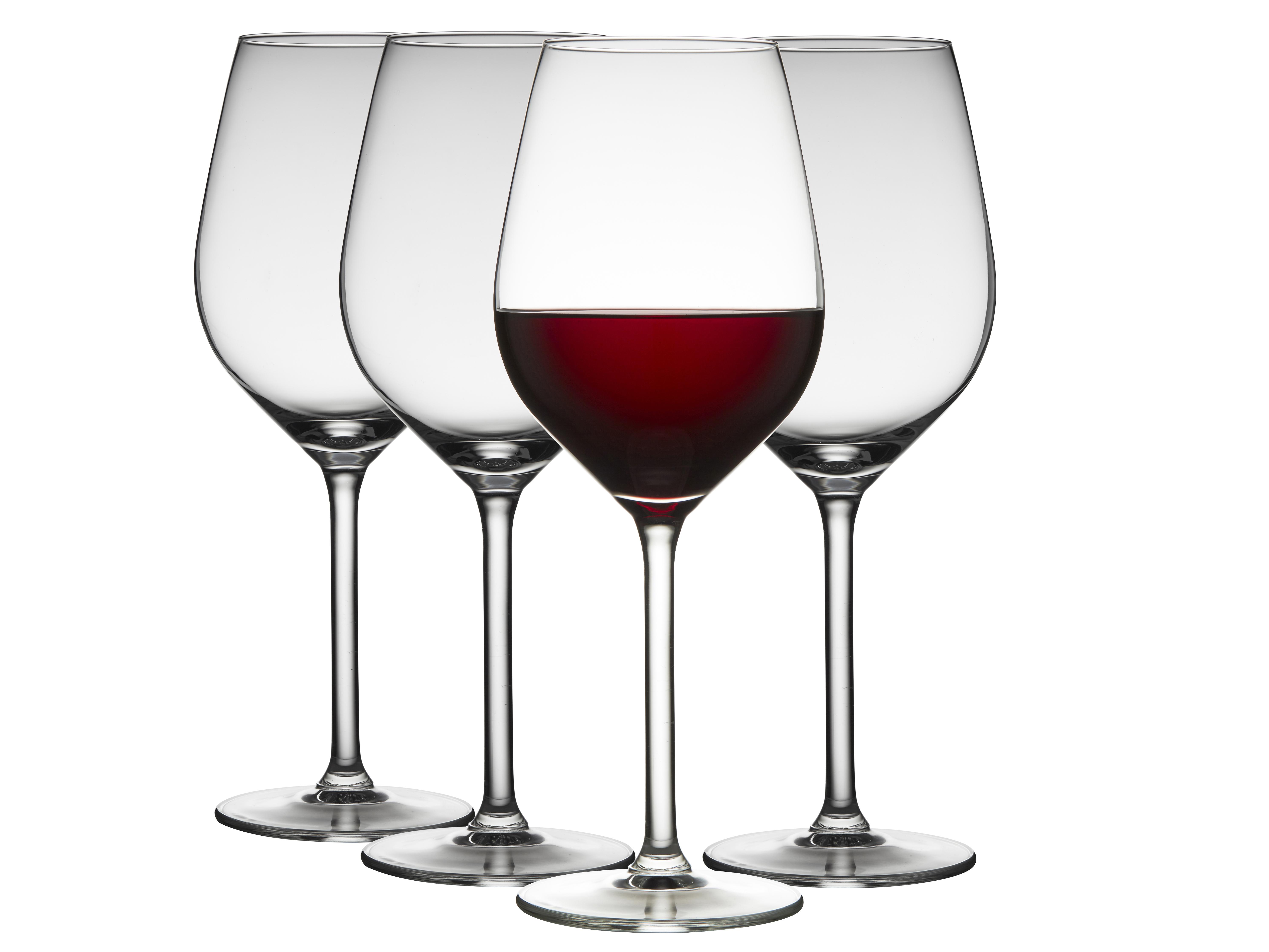 Lyngby-Glas Juvel rødvinsglas, 500 ml, 4 stk