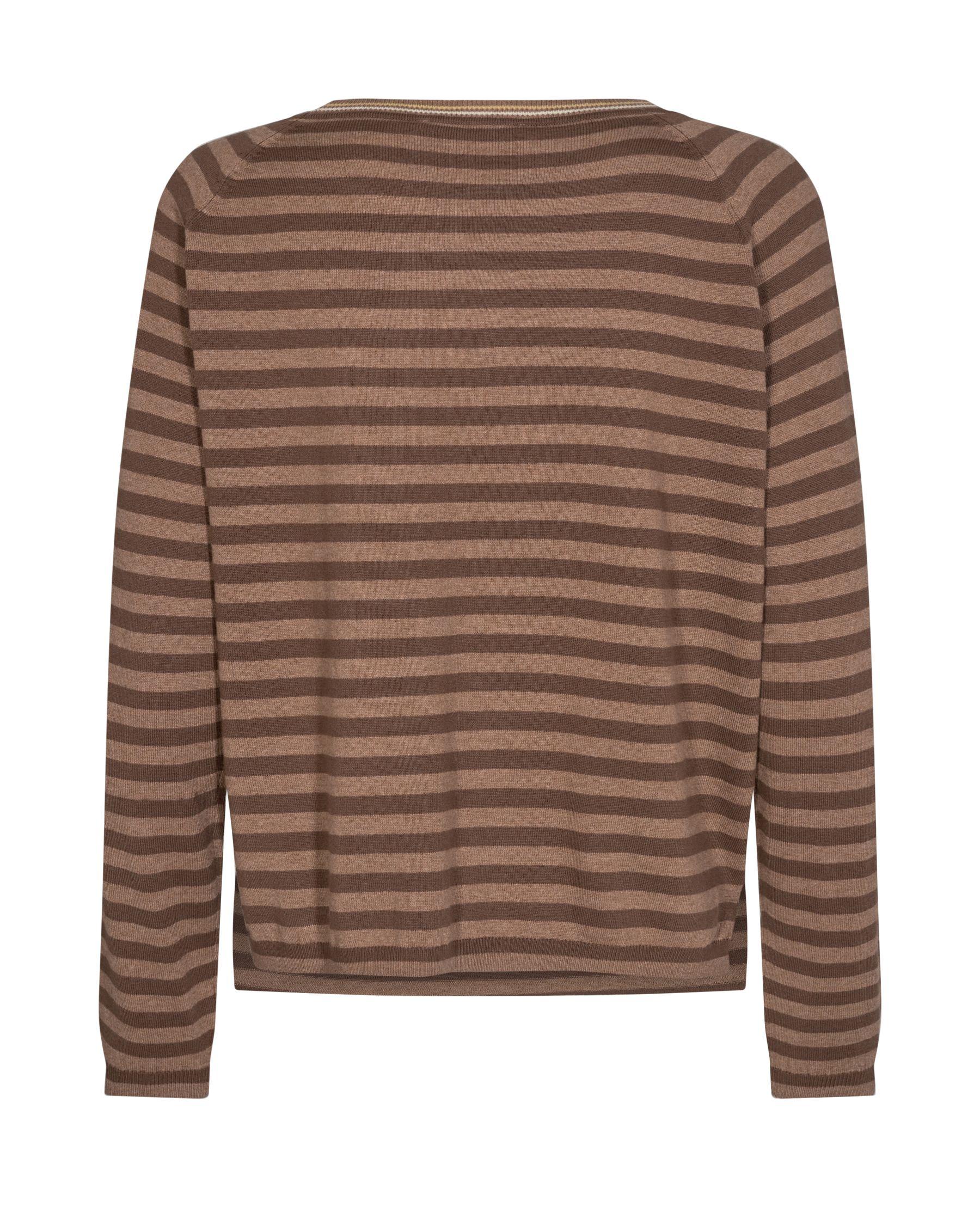 Mos Mosh Wyn Stripe sweatshirt, woodsmoke, M