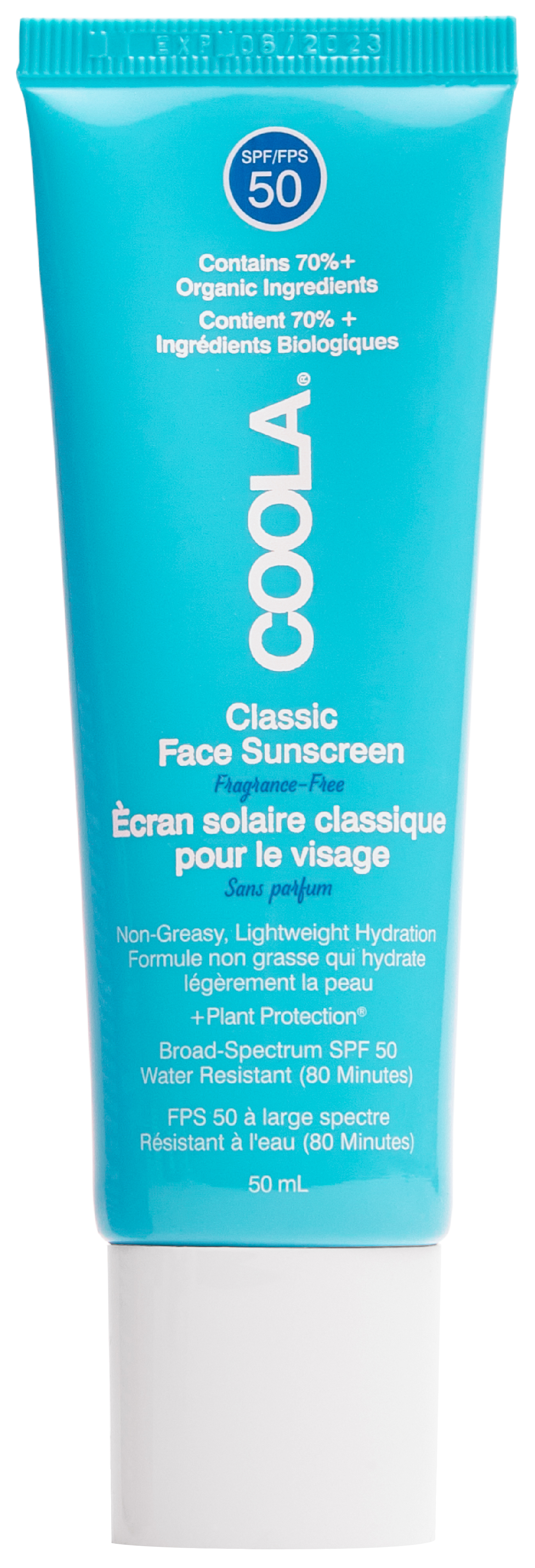 Coola Classic Face Lotion Fragrance-Free SPF50