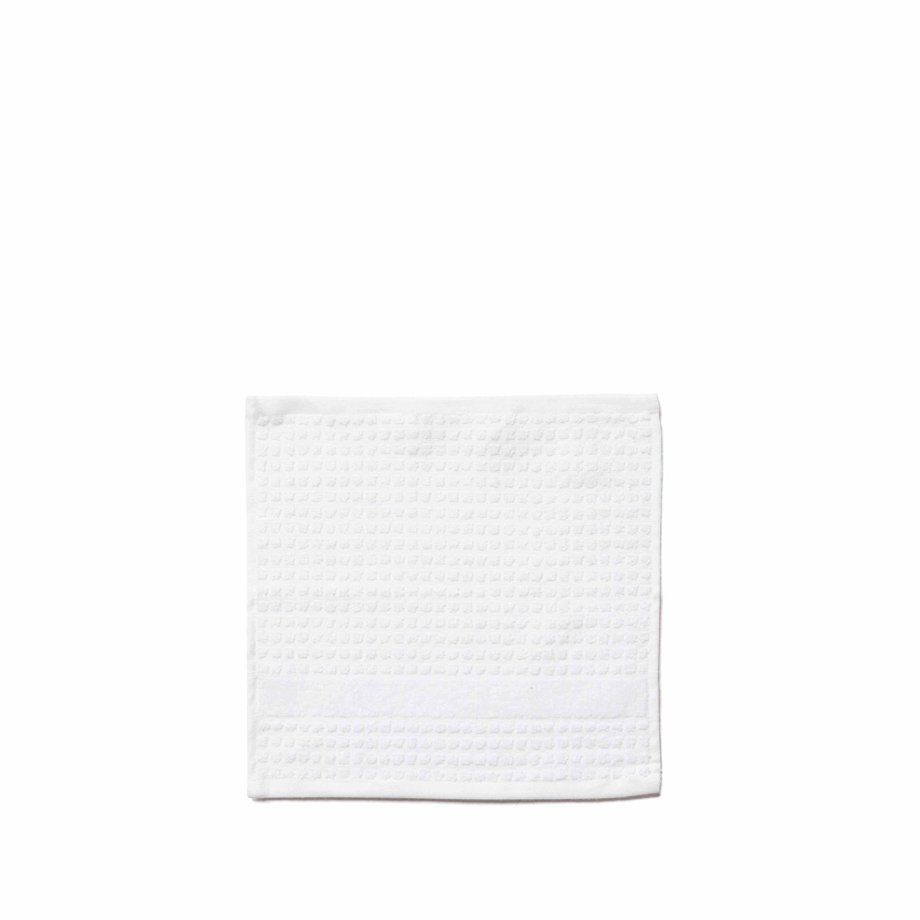 Juna Check vaskeklud, 30x30 cm, hvid