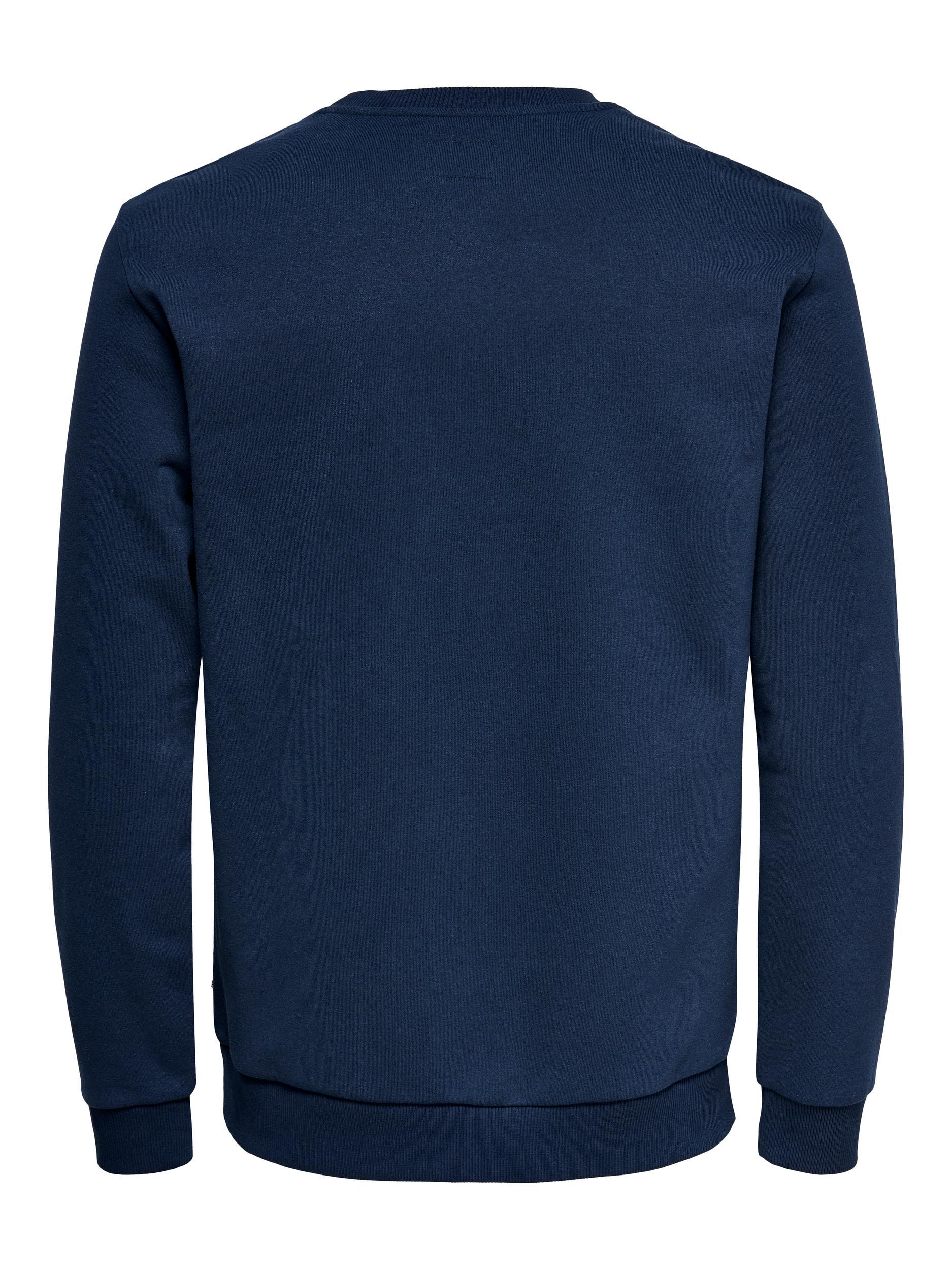 Only & Sons Ceres Life Crew Neck sweatshirt, dress blues, medium