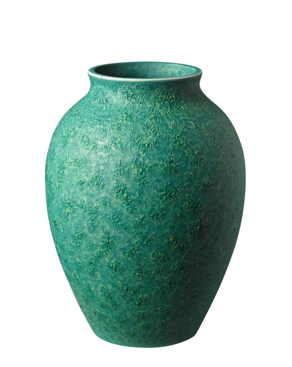 Knabstrup vase, 12,5 cm, irgrøn