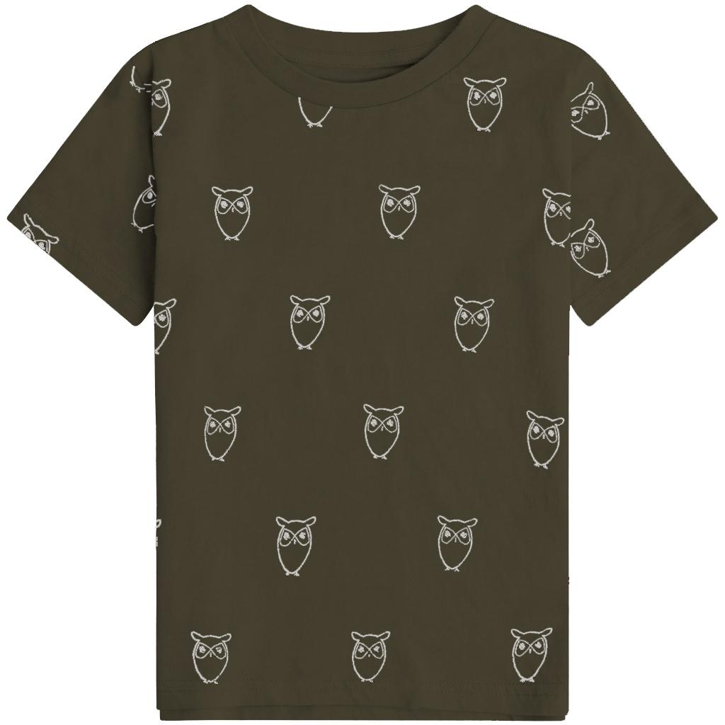 Knowledge Cotton Apparel Flax Owl t-shirt