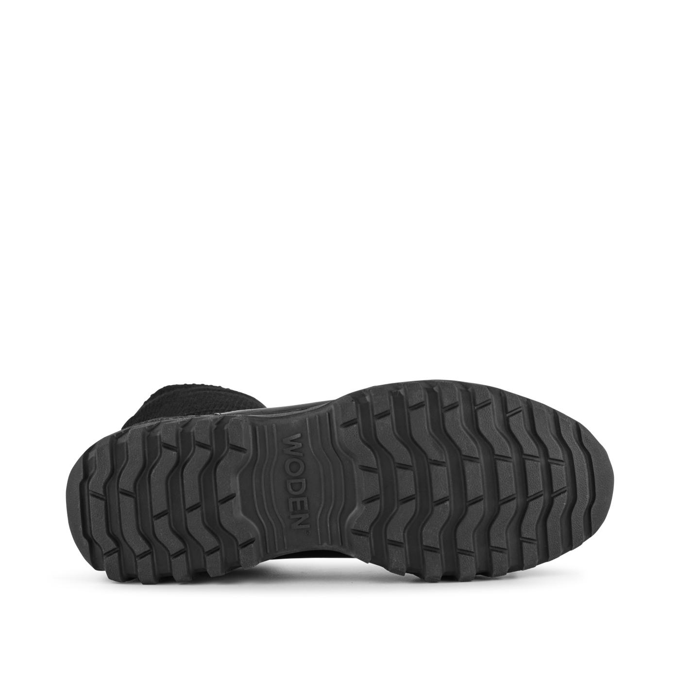 Woden Lucy Track High Leather Støvle, Sort, 40