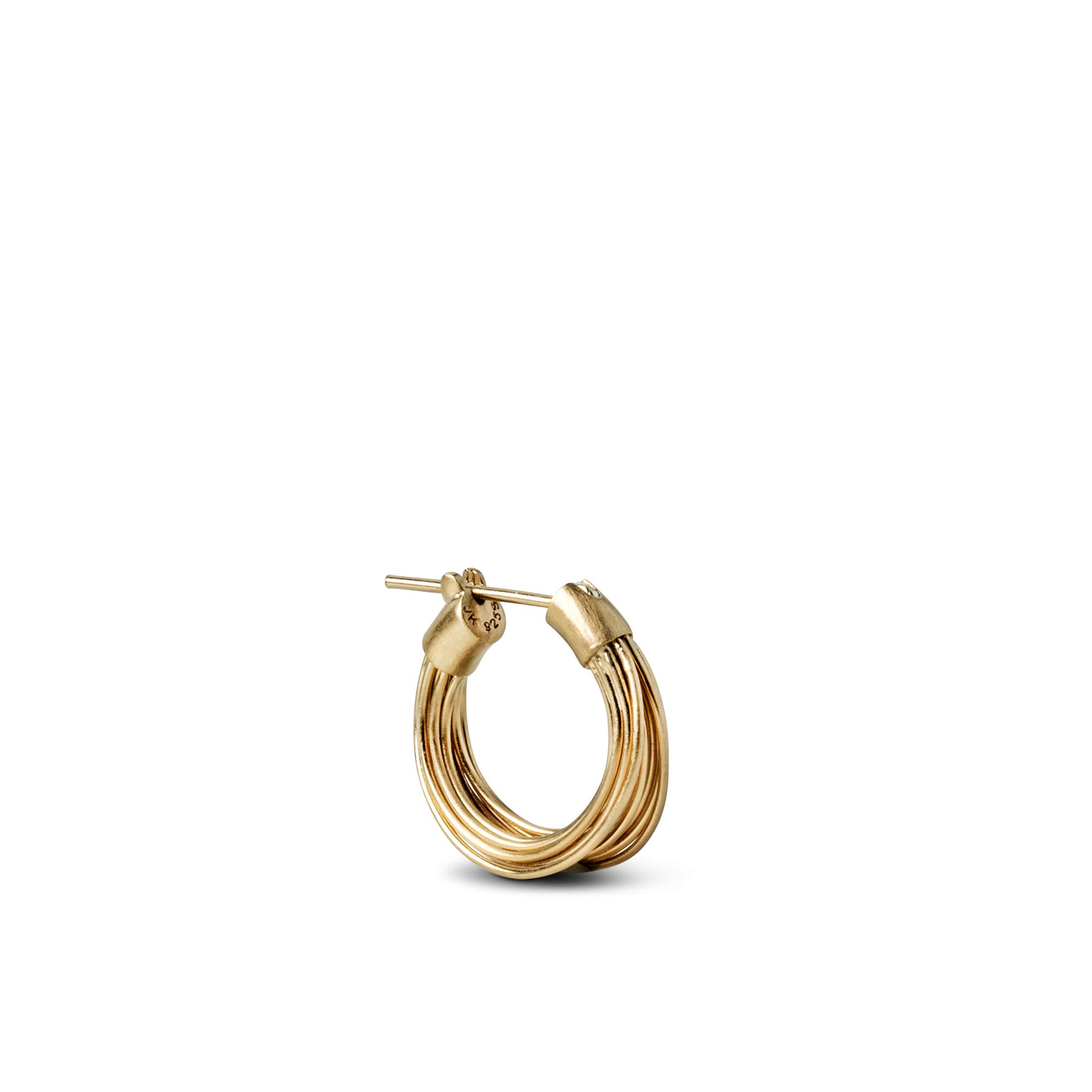 Jane Kønig small Wire ørering, guld
