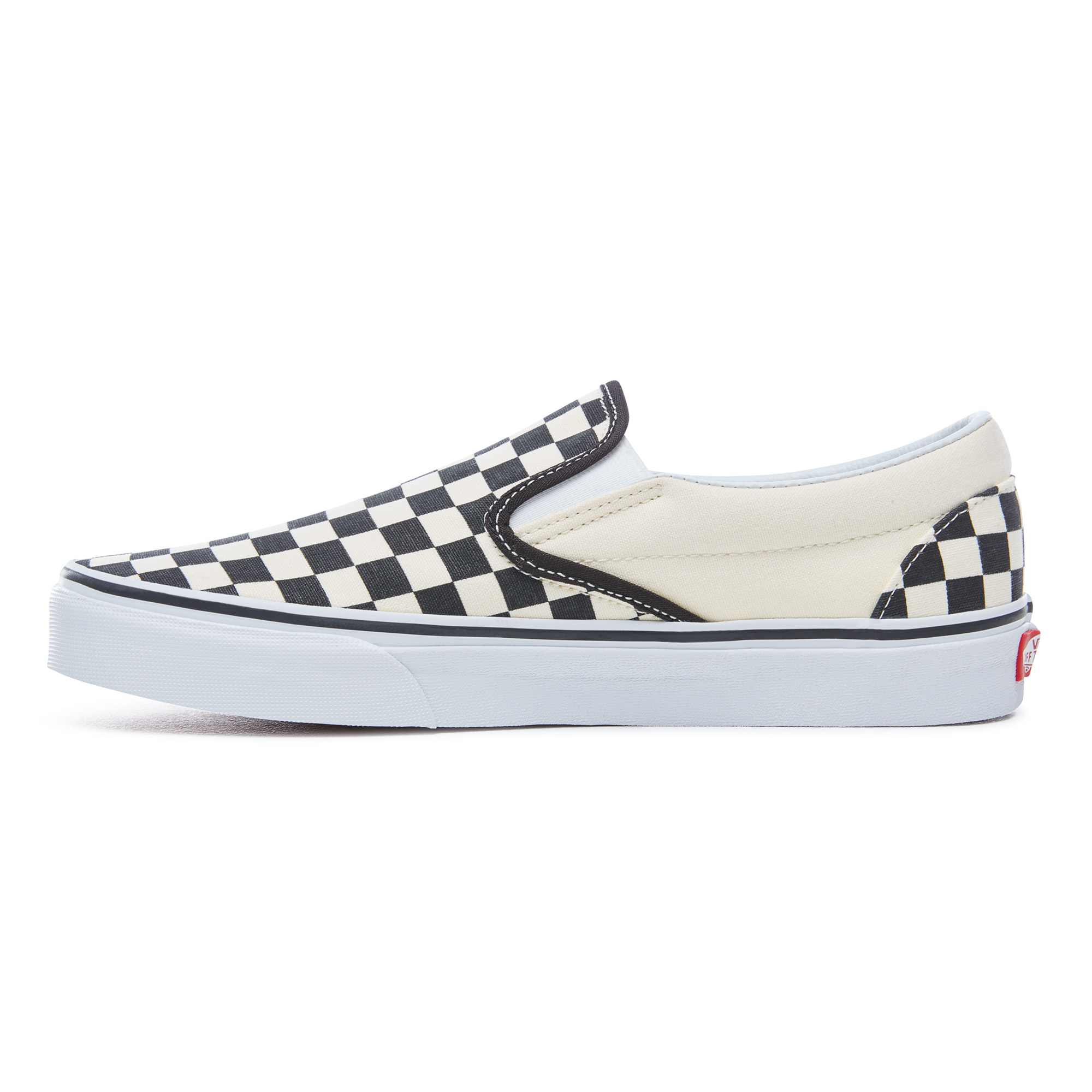 Vans Classic Checkboard Slip-On sneakers, unisex, black/white, 7.5