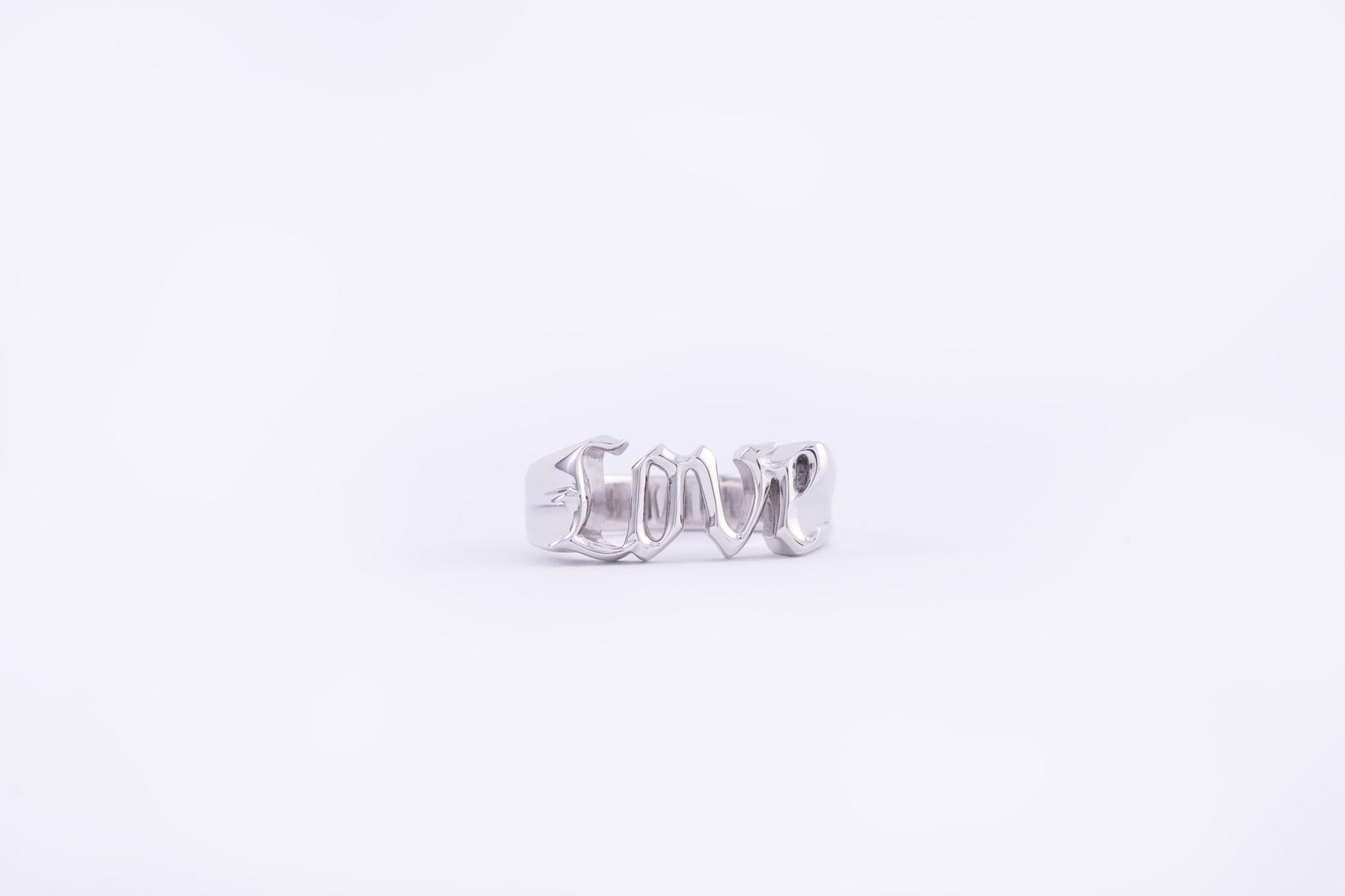 Frederik IX Studios Love ring, Silver, 56