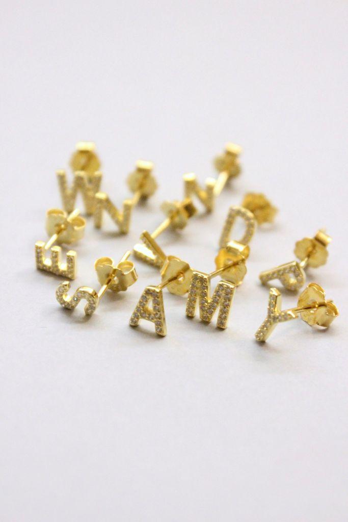 Pico Alphabet Stud I, guld