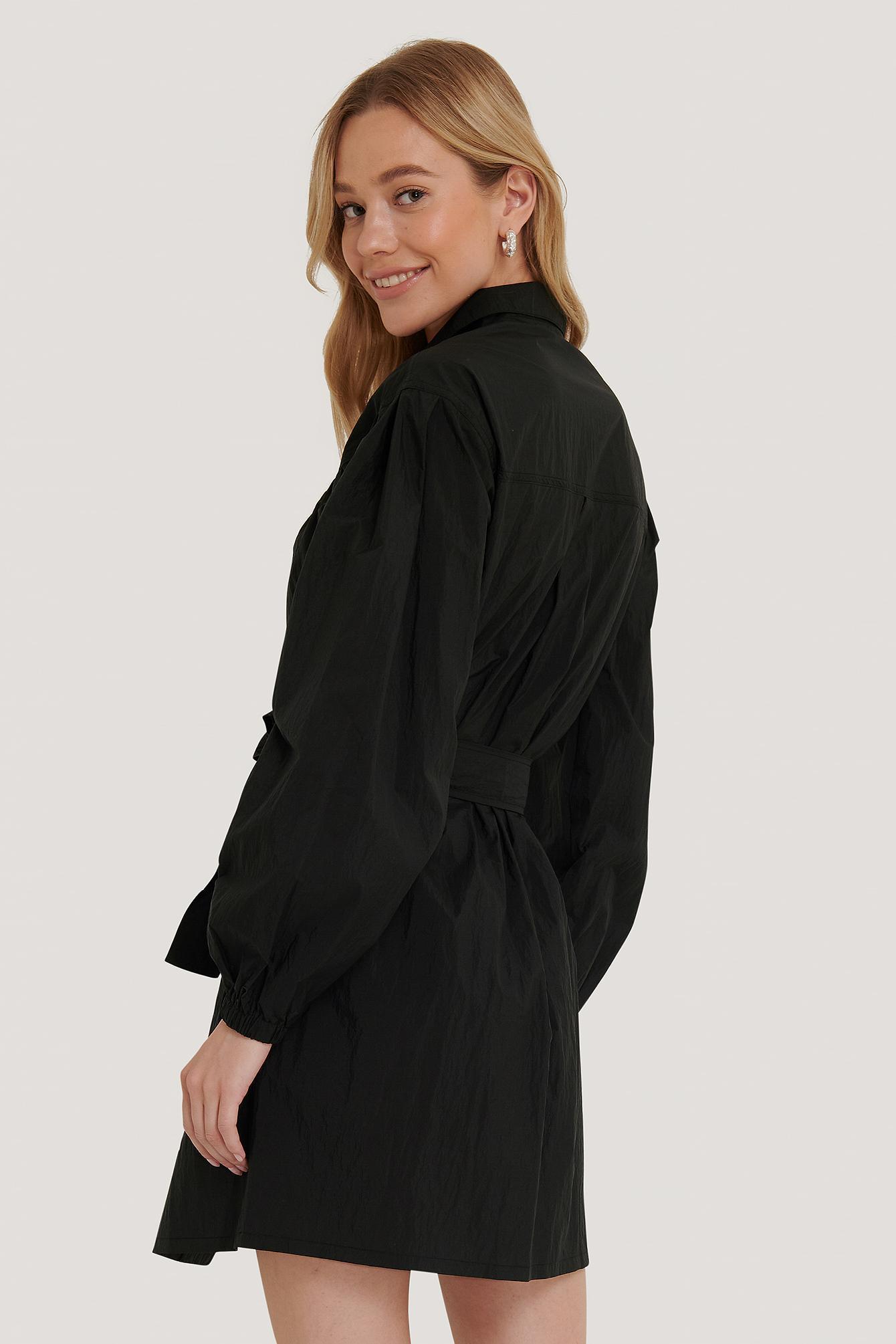 NA-KD Sporty kjole, black, 34