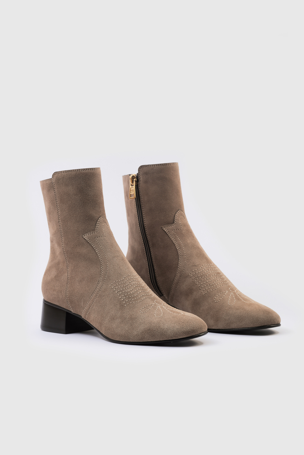 See By Chloé 37091A Boots, Taupe, 39
