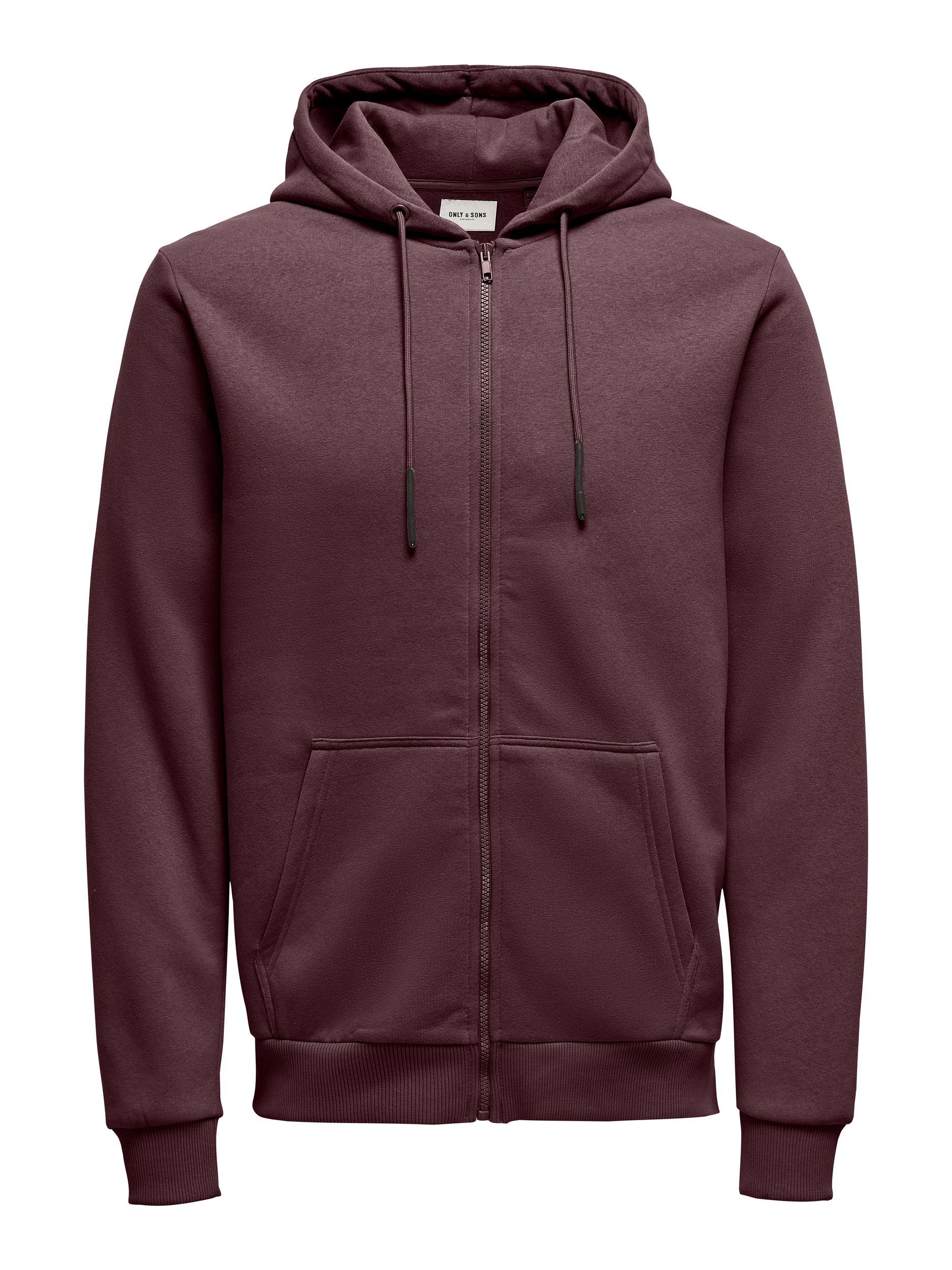 Only & Sons Ceres Life Zip hoodie, fudge, large