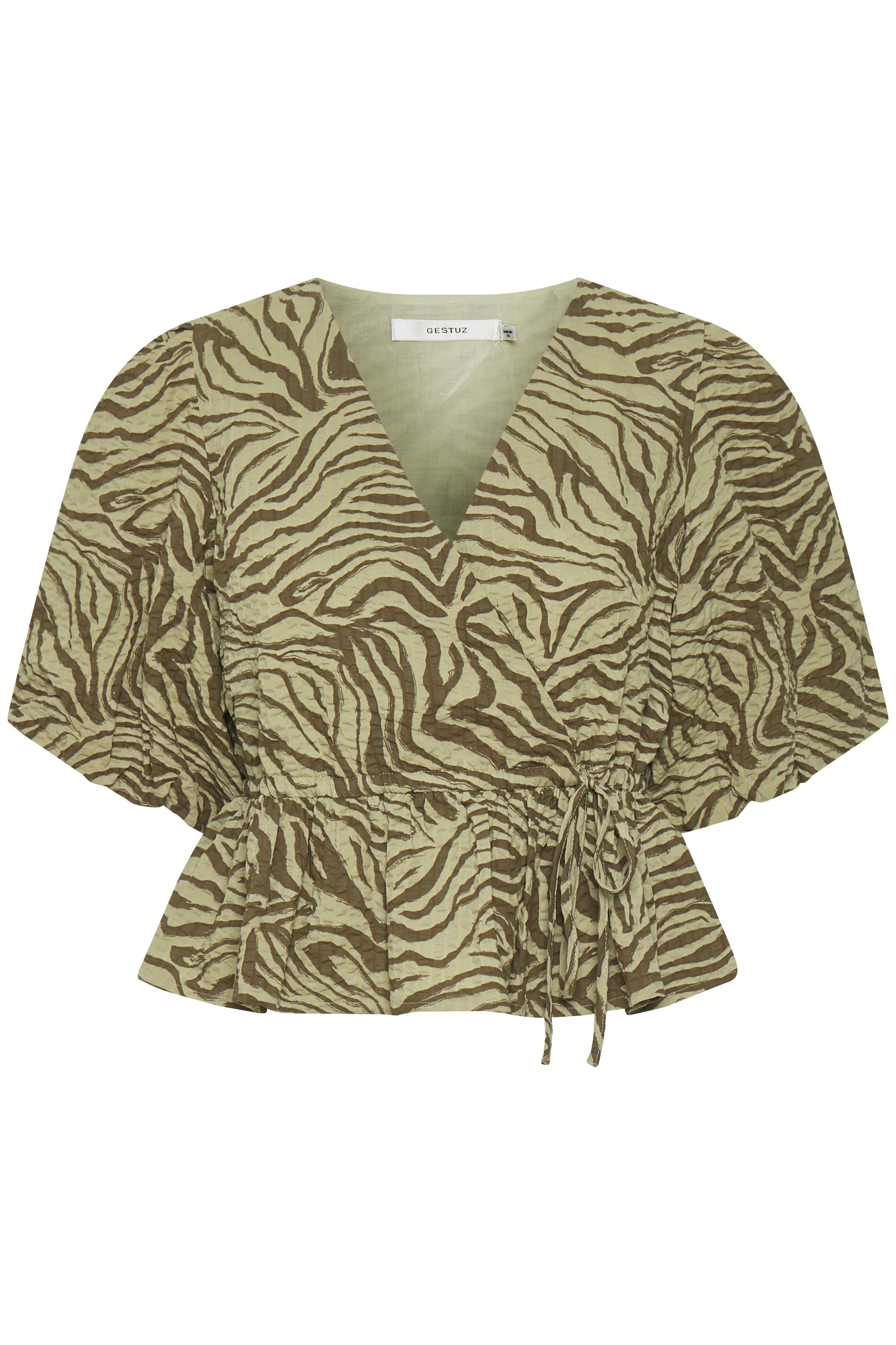 Gestuz AveryGZ bluse, elm zebra, 34
