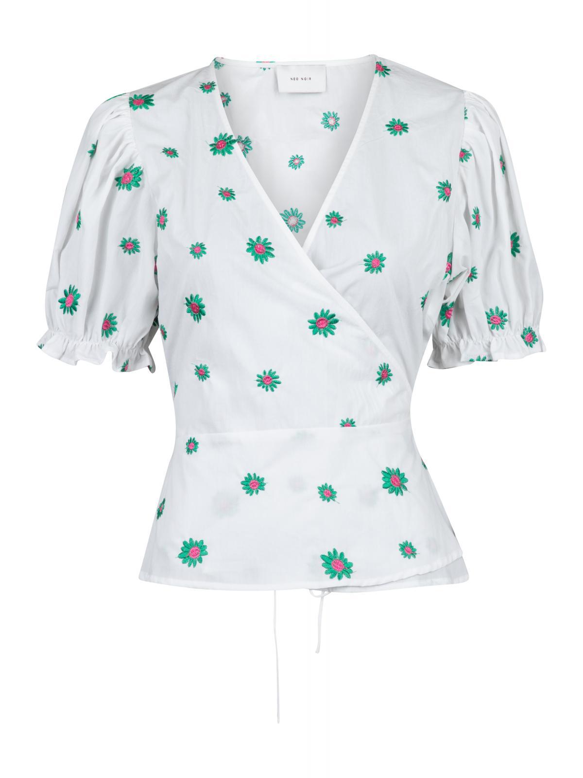 Neo Noir Fana Flower bluse, green, 42