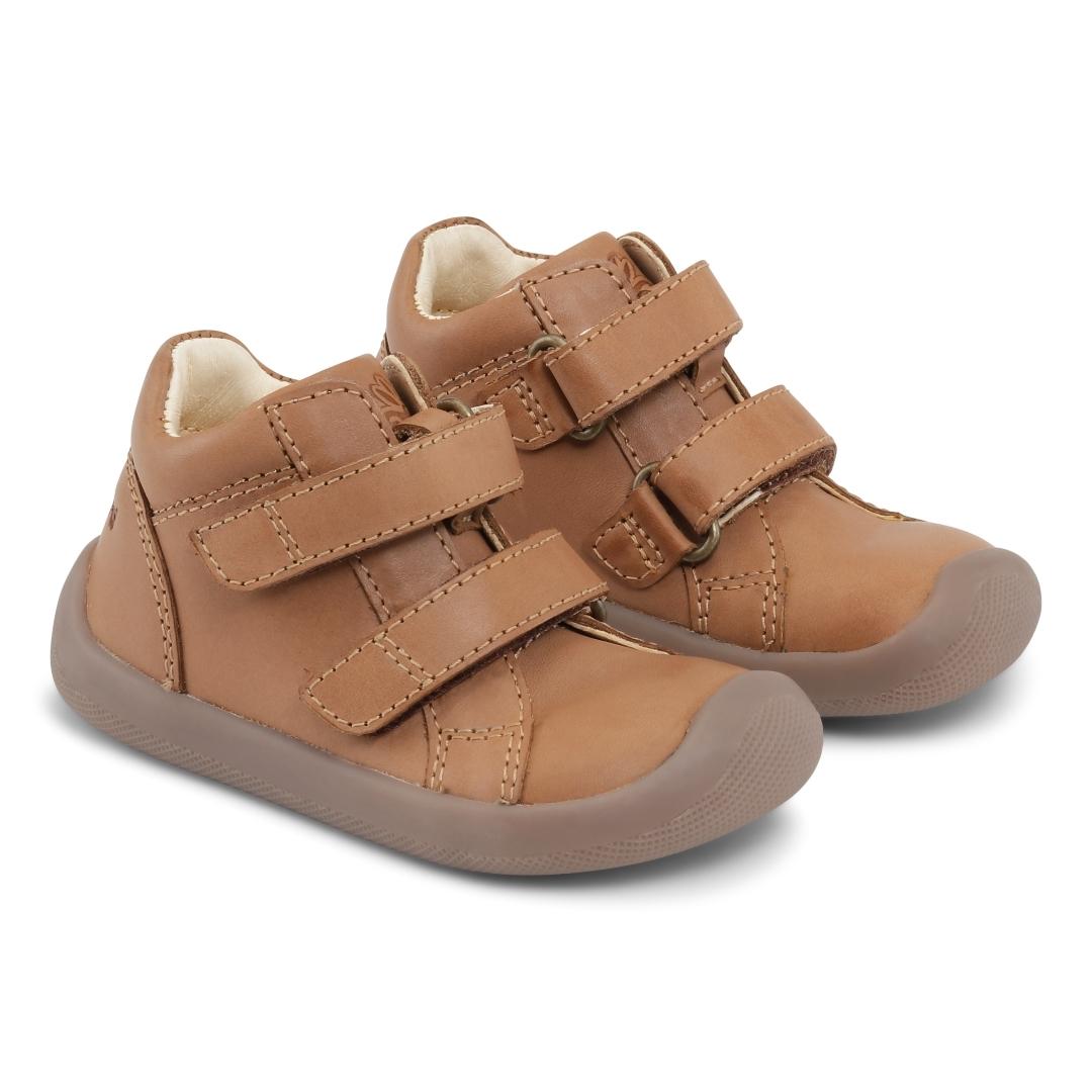 Bundgaard The Walk Velcro sko, caramel, 25