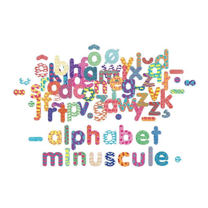 Vilac Magnet alfabet bogstaver, 81 stk.
