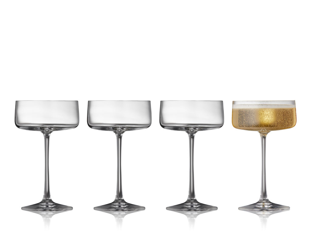 Lyngby-Glas Krystal Zero champagneskål, 260 ml, 4 stk