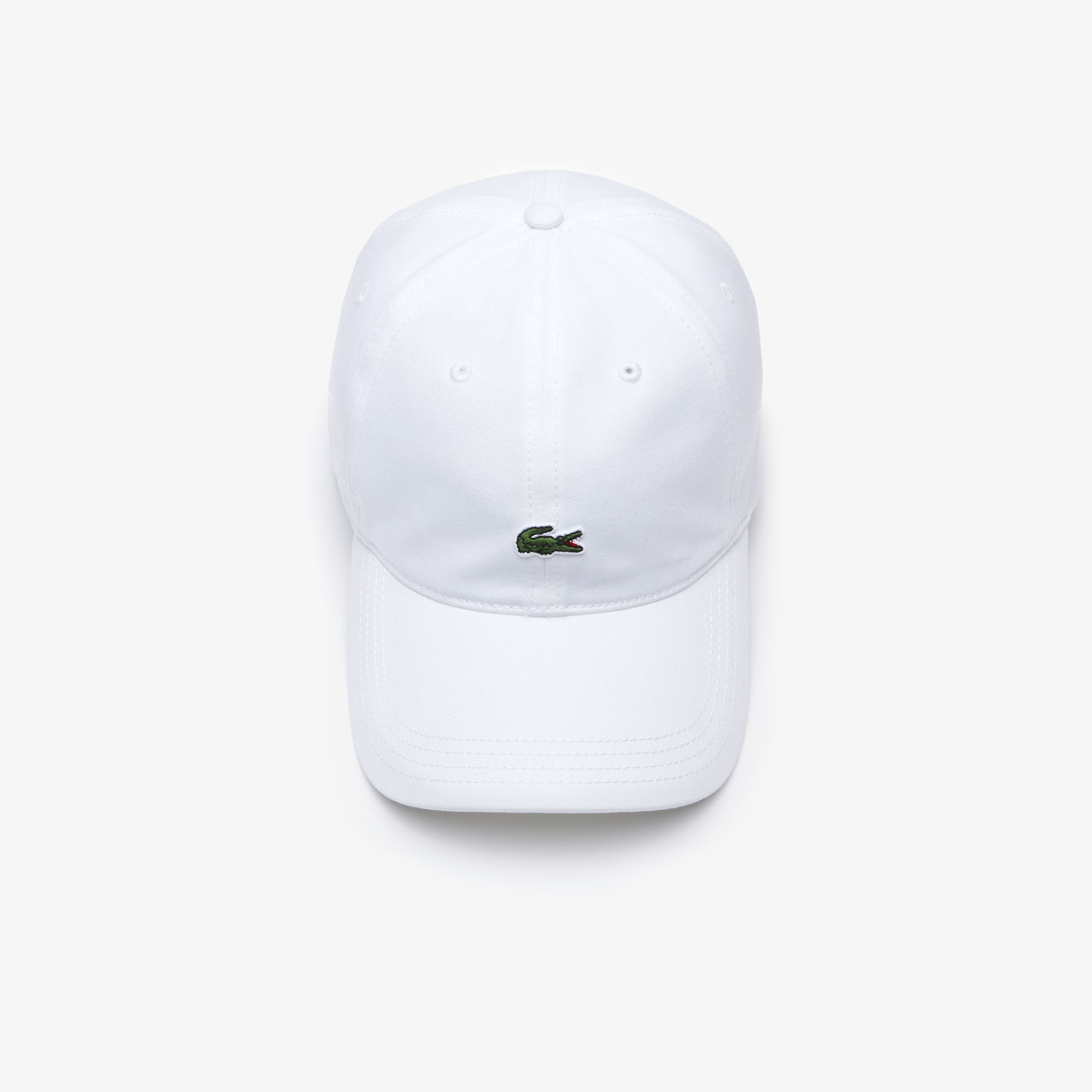 Lacoste Sport Contrast Strap & Crocodile cap, white, one size