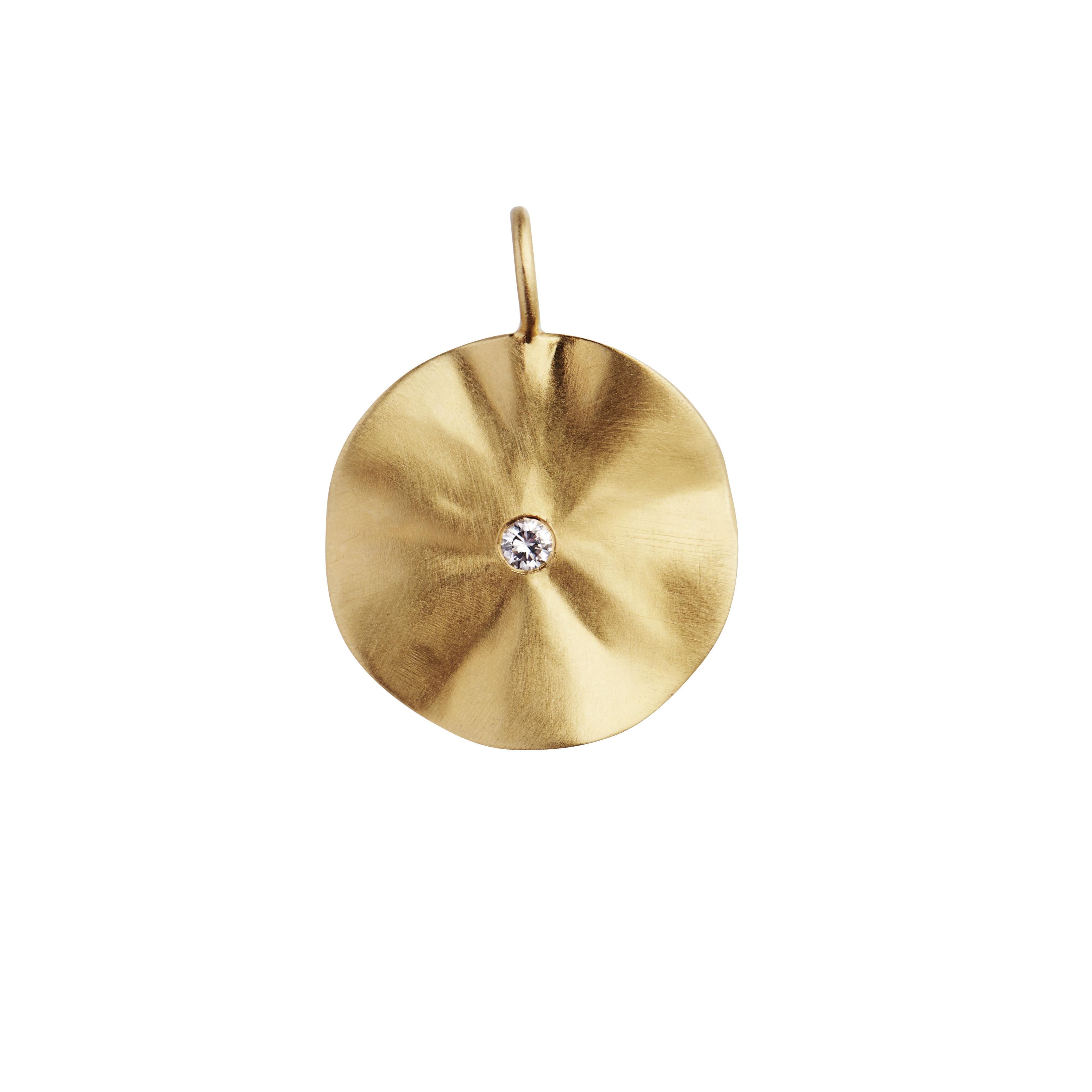 Stine A La Feuille vedhæng, guld