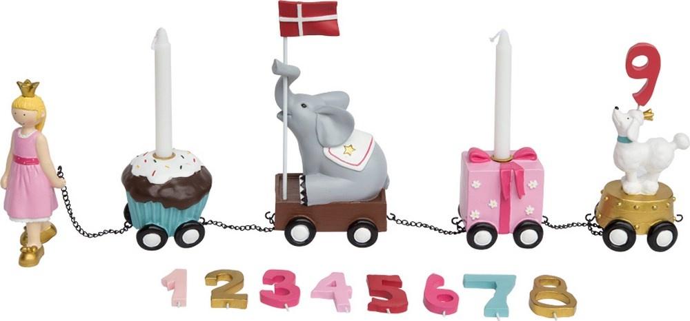 Kids by Friis fødselsdagstog, prinsesse, lyserød