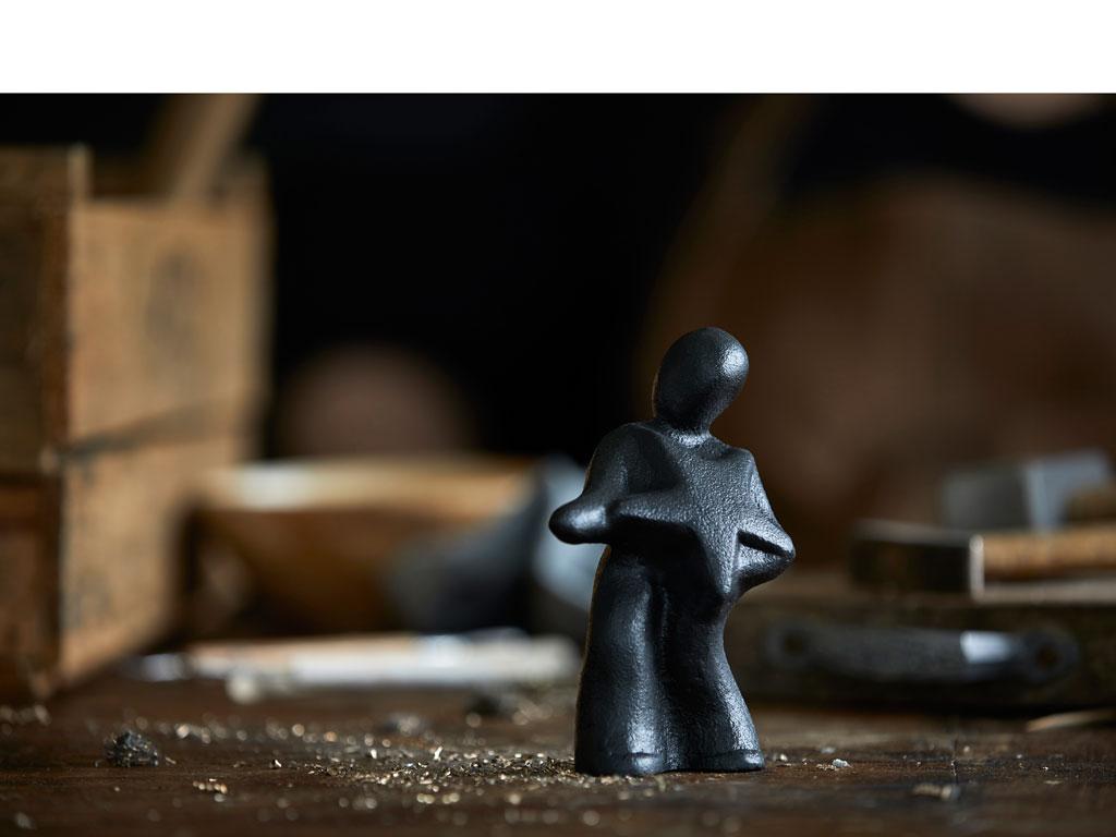 """Morsø skulptur """"fang stjernerne ind og nyd din stjernestund"""""""
