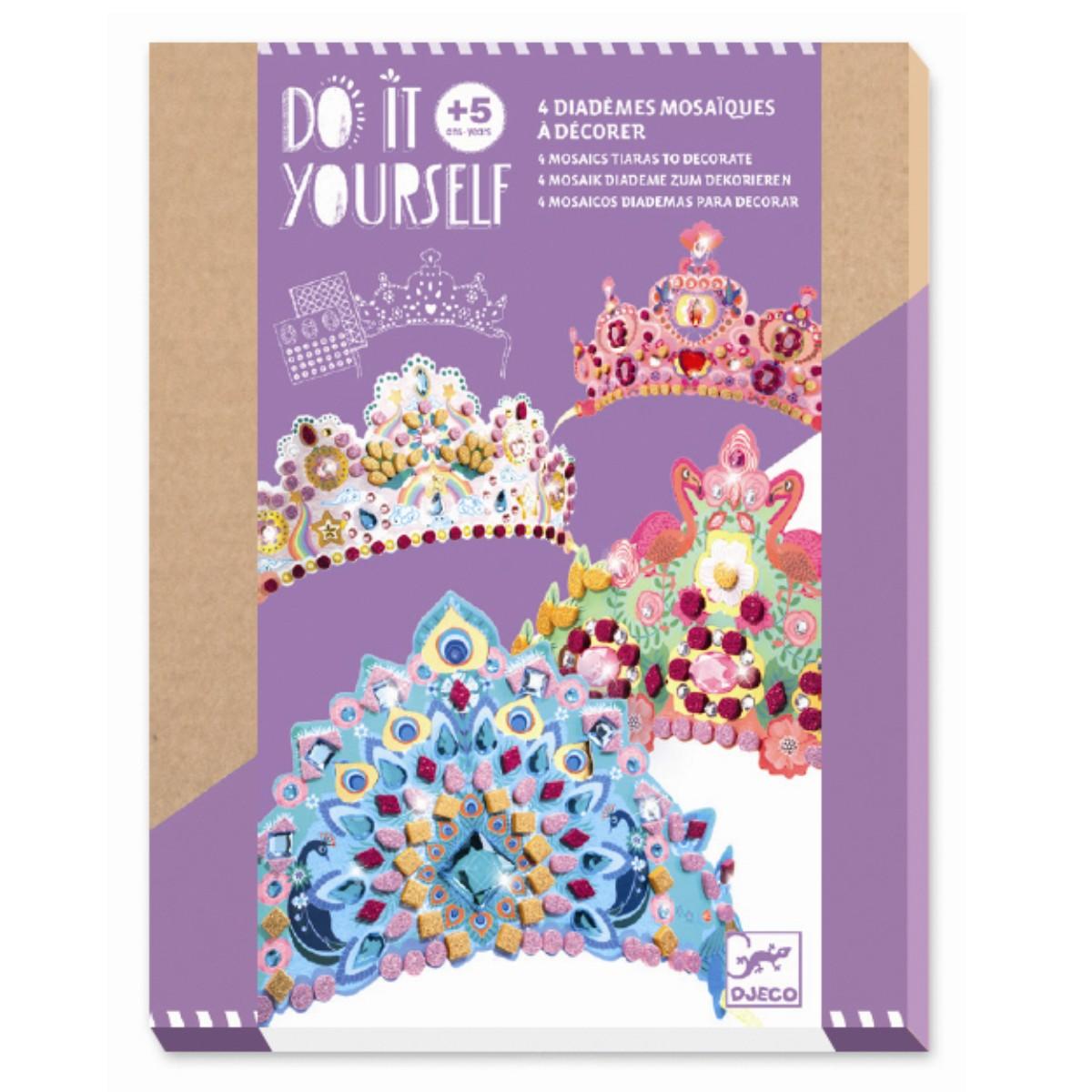 Djeco DIY prinsesse diademer, mosaik
