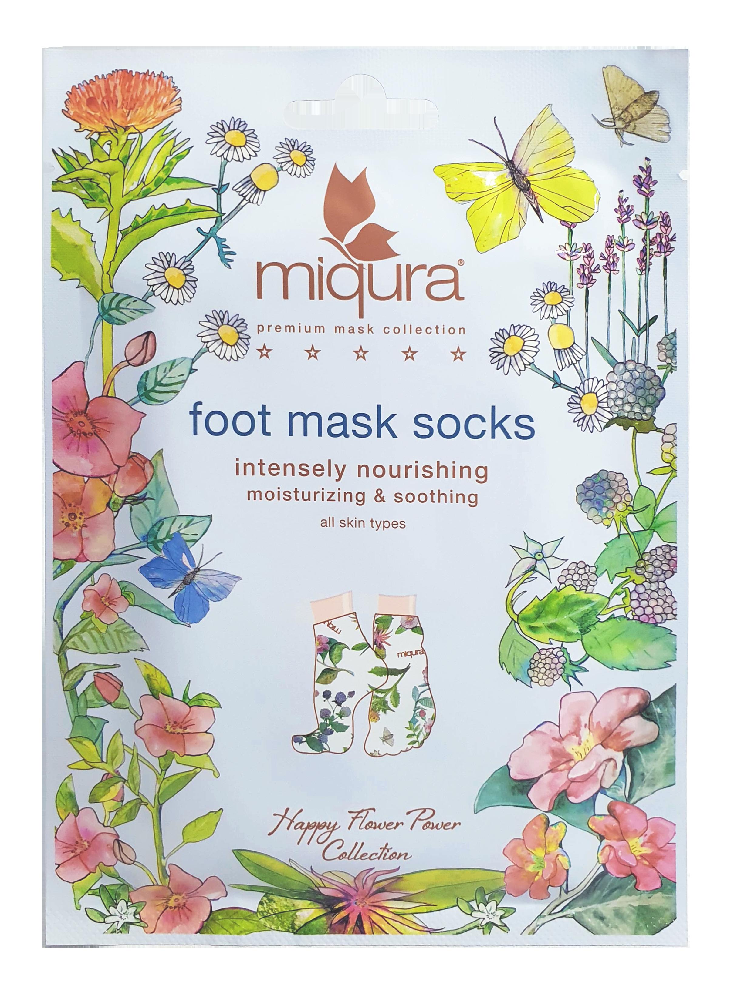 Miqura Flower Foot Mask Socks